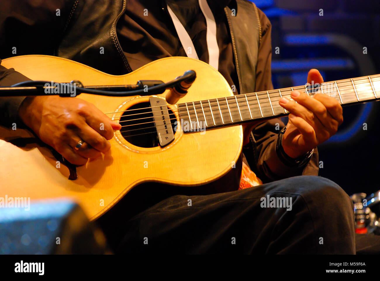 NIS - AUGUST 15: Vlatko Stefanovski famous Macedonian guitarist playing on Nisville jazz festival, on August 15, - Stock Image