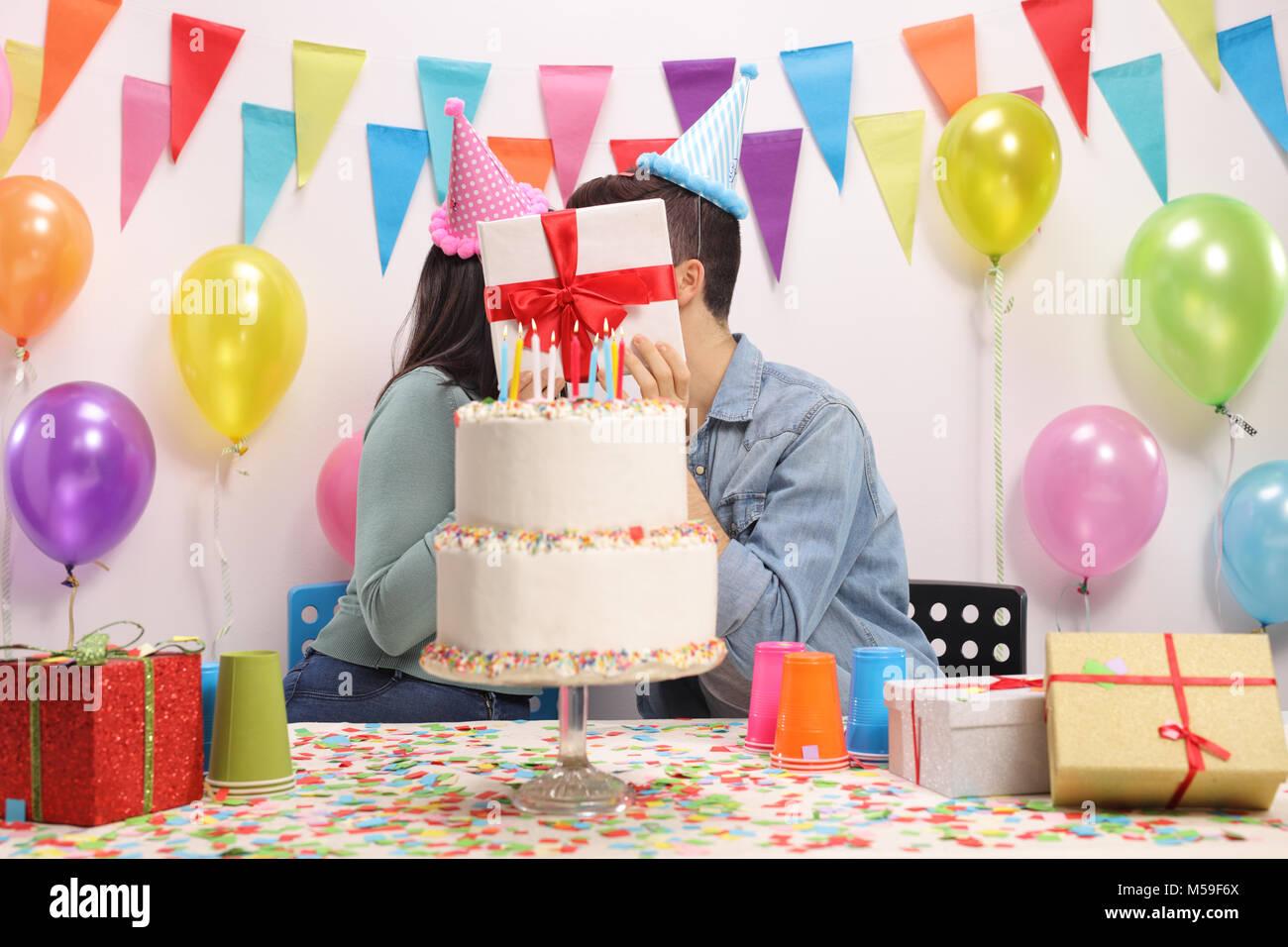 Pleasing Kissing Couple Cake Stock Photos Kissing Couple Cake Stock Funny Birthday Cards Online Overcheapnameinfo