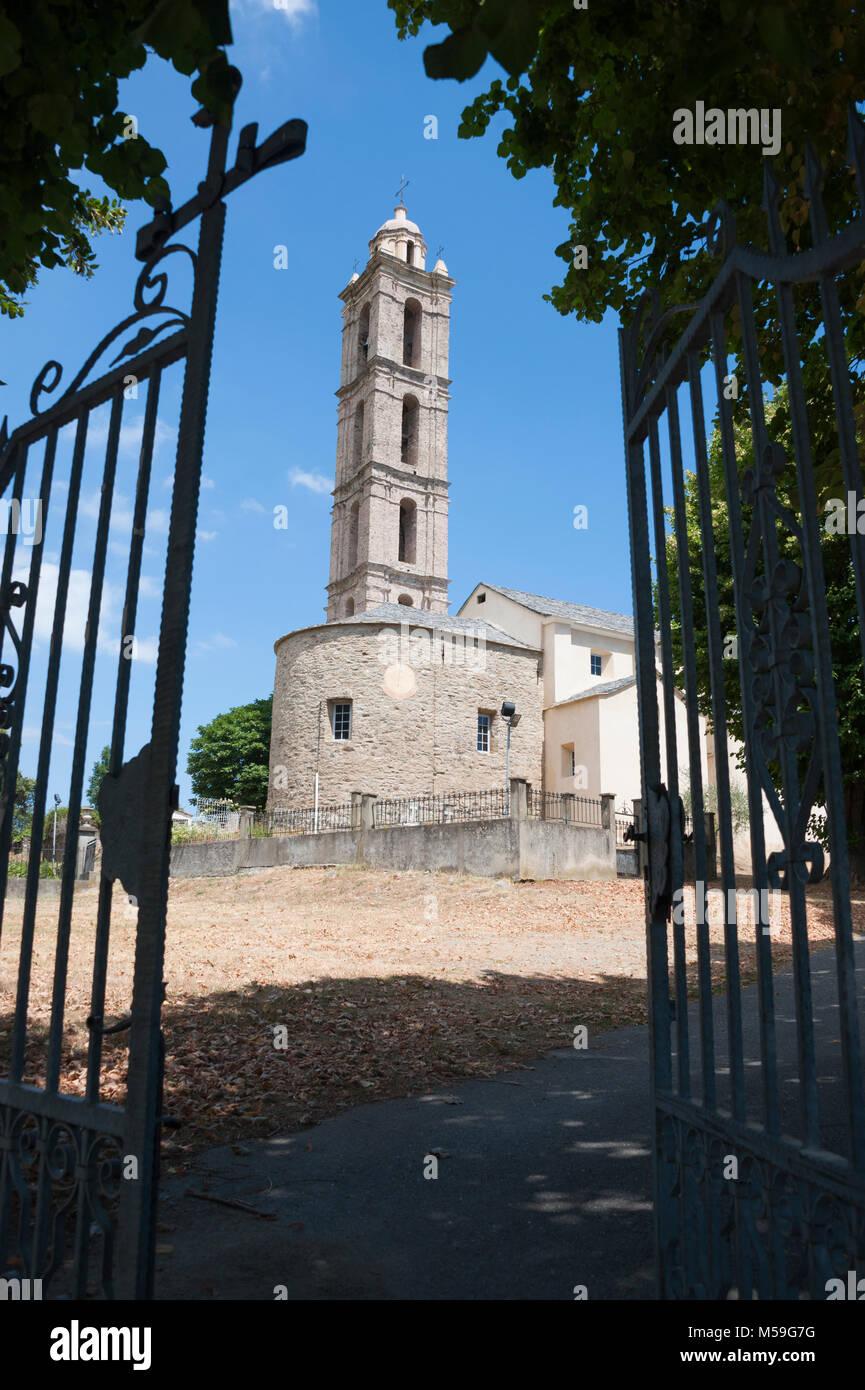 Church of San-Nicolao, Corsica, France - Stock Image