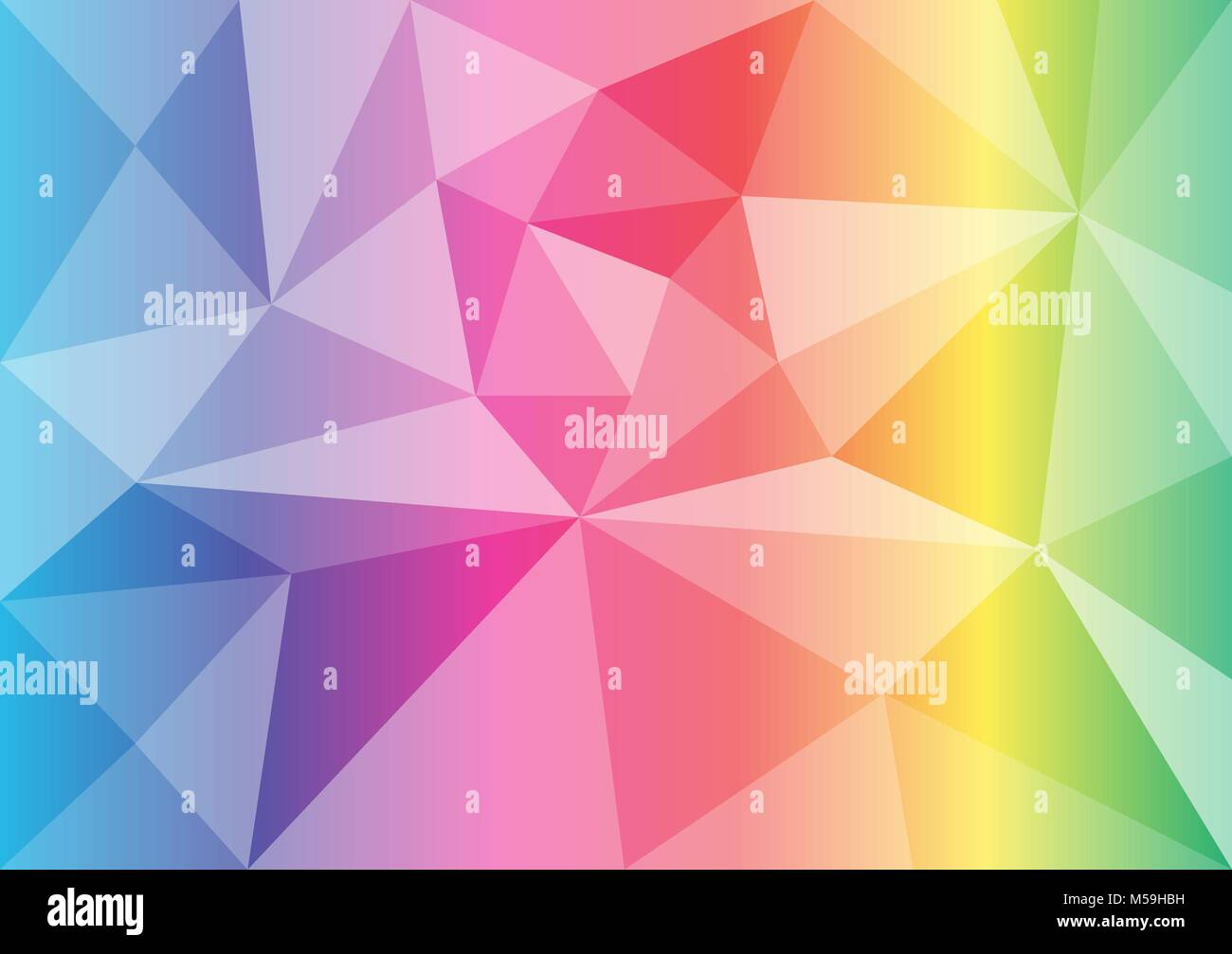 vector polygon rainbow color abstract background - Stock Image