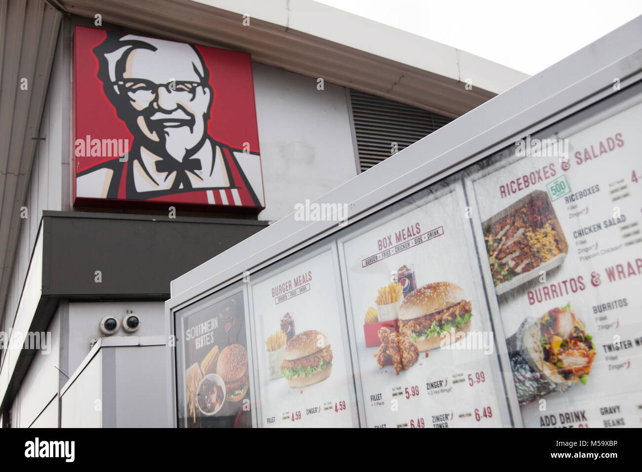 Kfc Delivery Stock Photos & Kfc Delivery Stock Images - Alamy