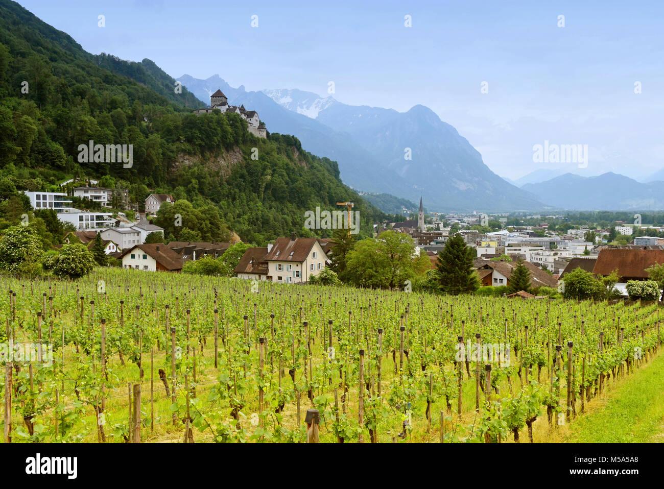 Cityscape of Vaduz, Liechtenstein - Stock Image