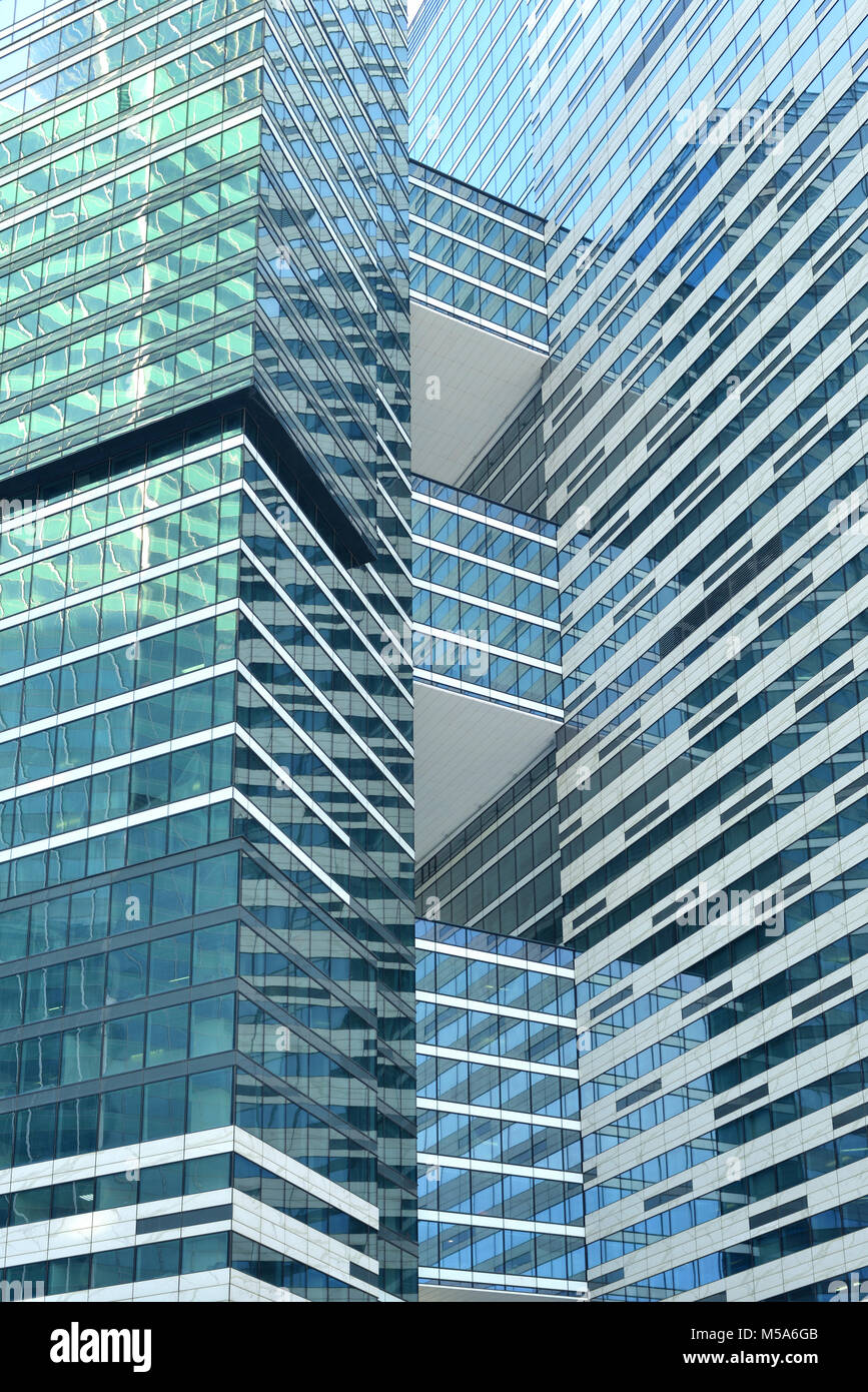 IQ-quarter (fragment) in Moscow International Business Center - Stock Image