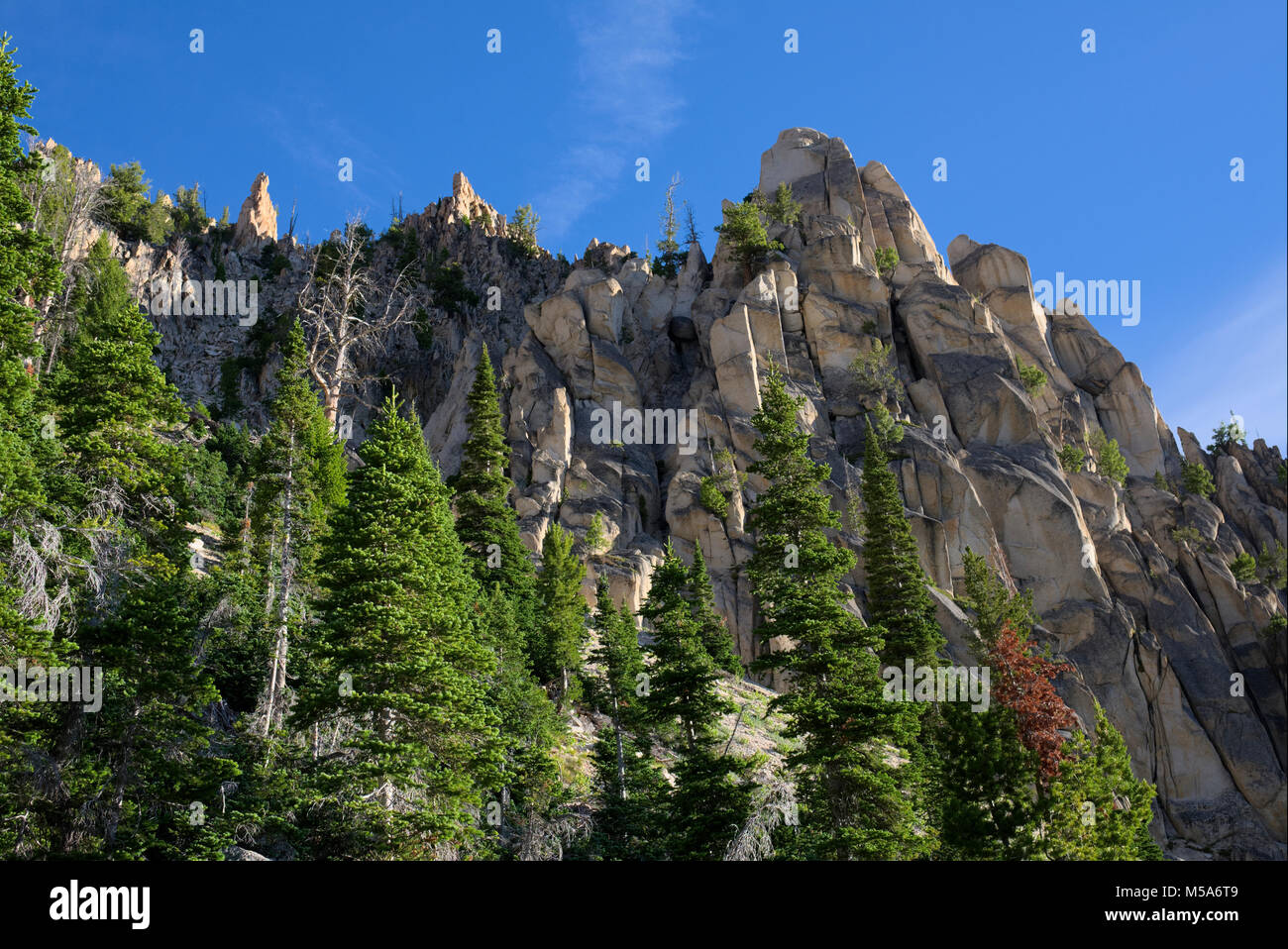 Serrated Ridge in the Sawtooth Mountains - Stock Image