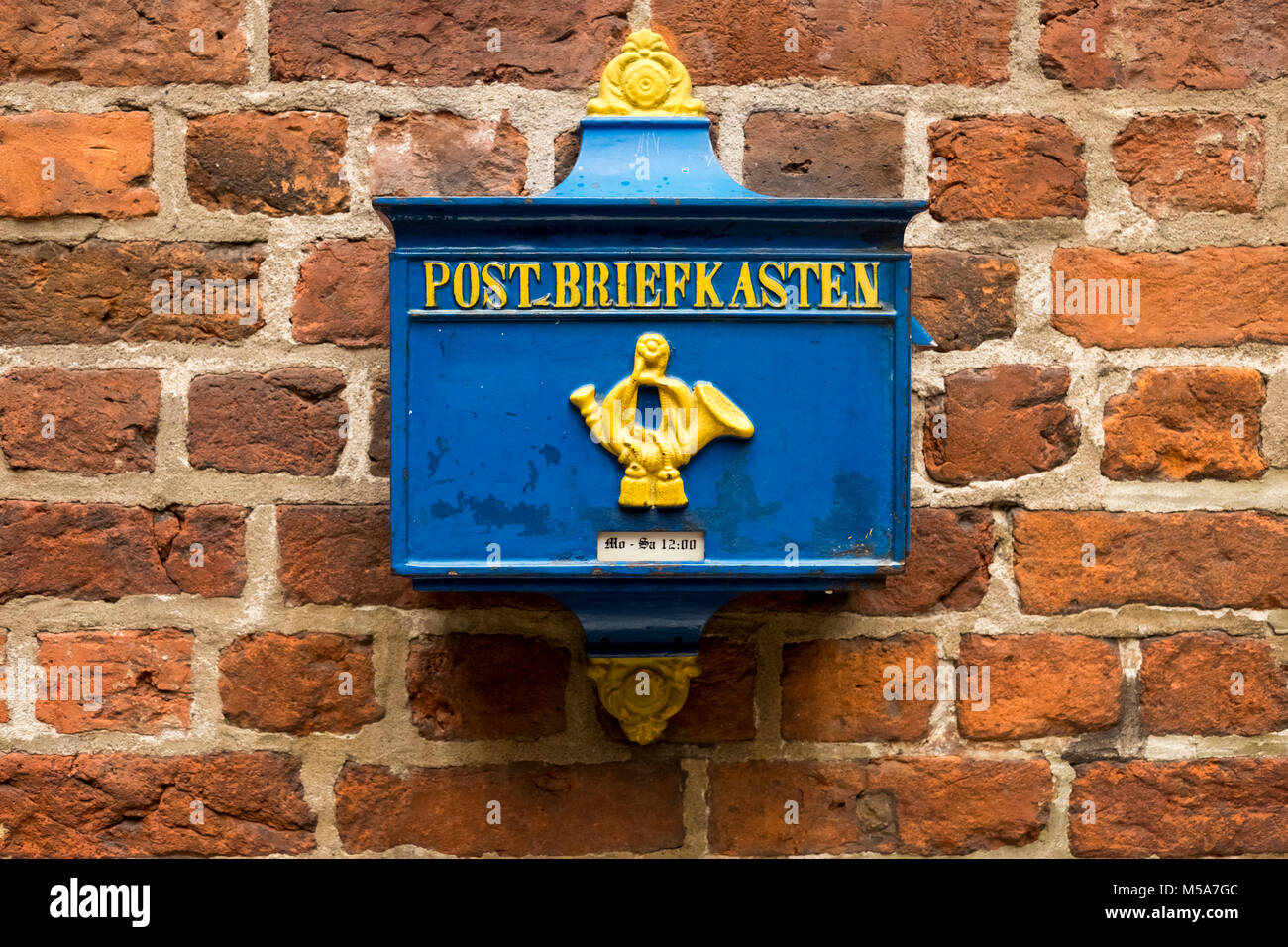 Old German Postbox, Germany - Stock Image