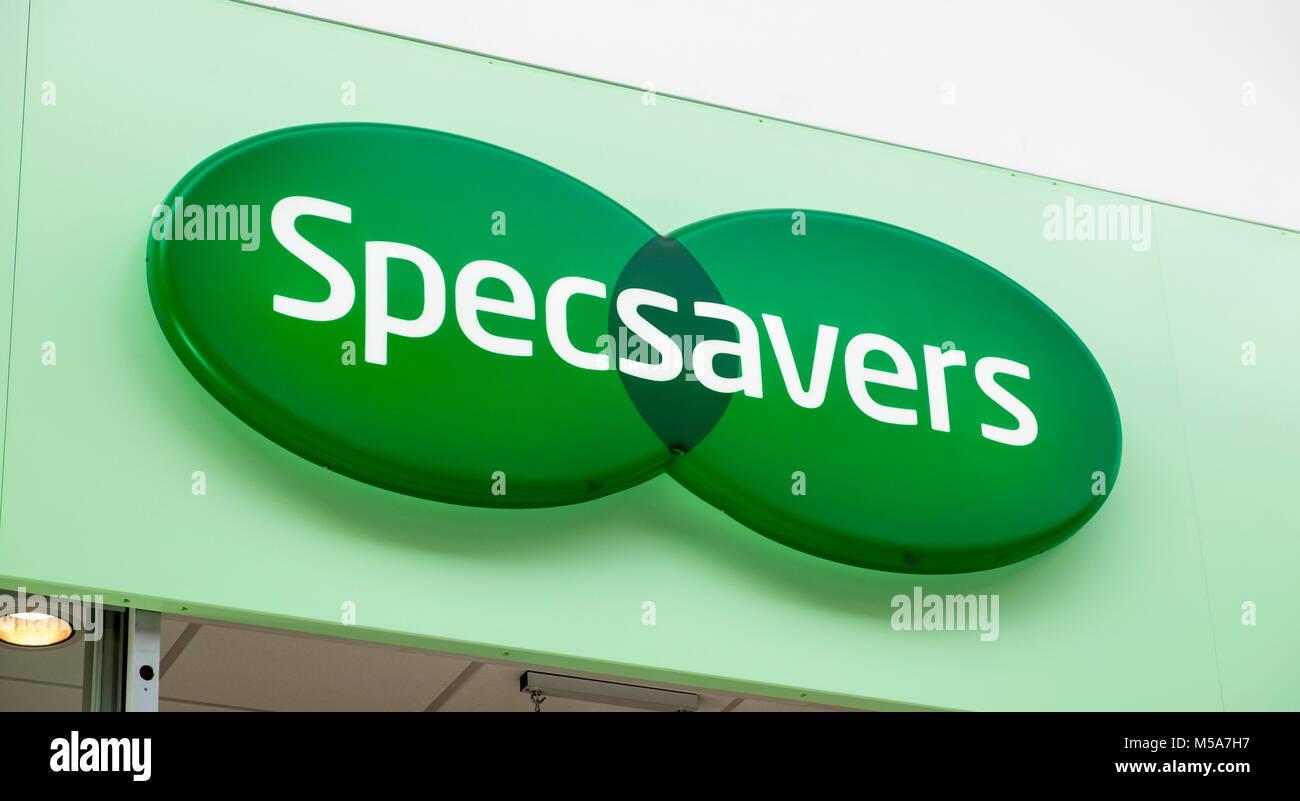 Specsavers sign logo, UK Stock Photo