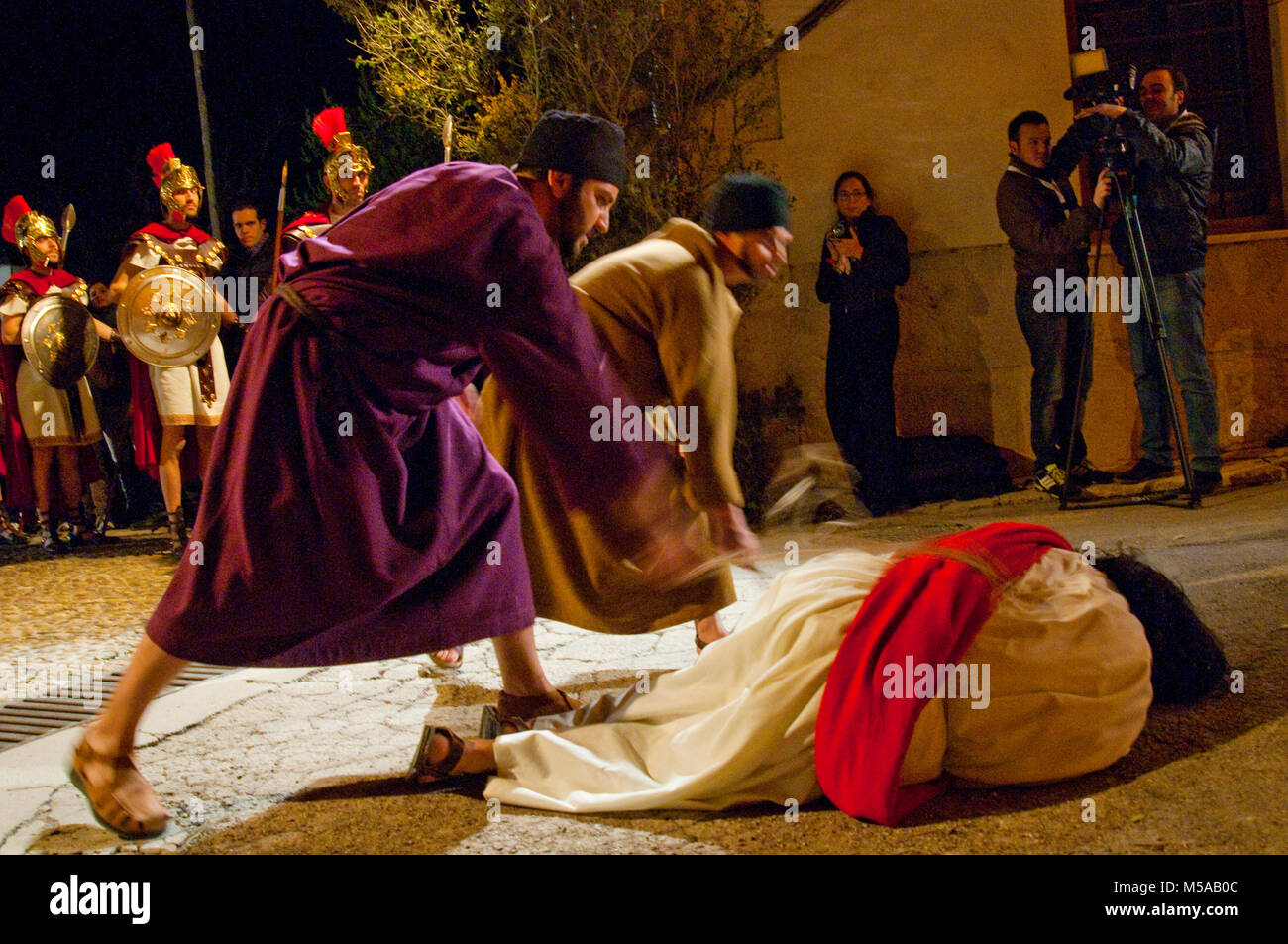 Passion of Chinchon, traditional Holy Week performance. Chinchon, Madrid province, Spain. Stock Photo