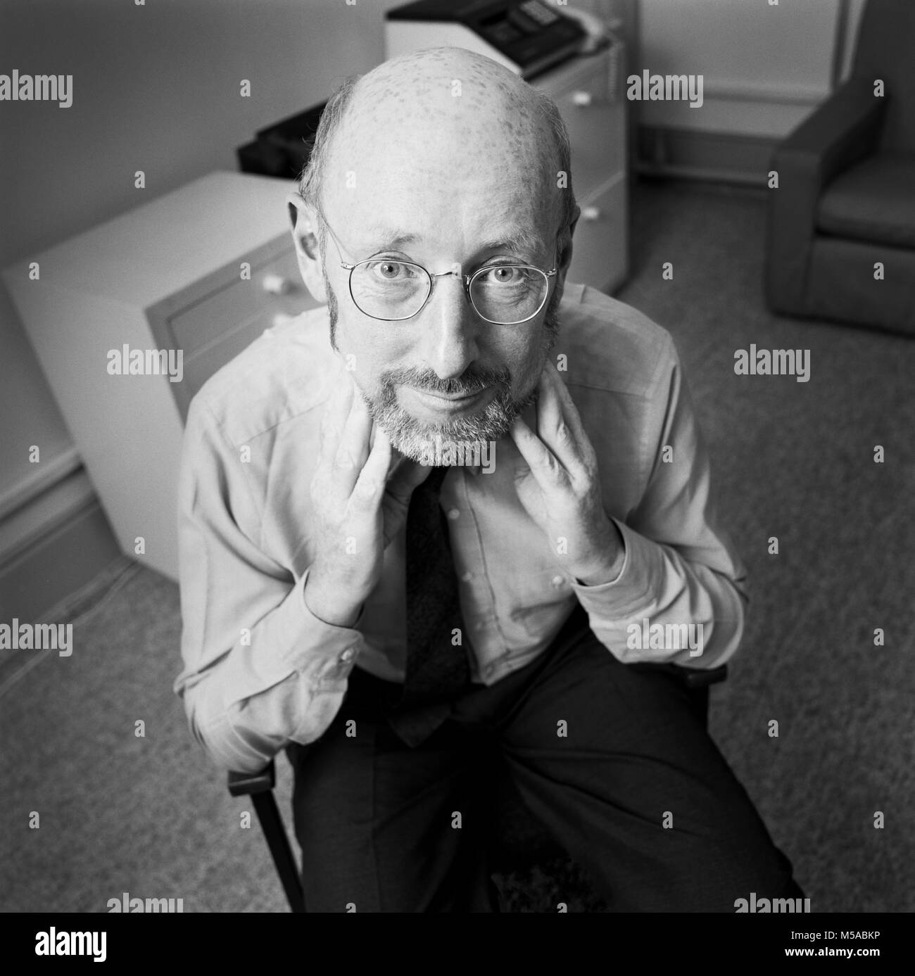 Clive Sinclair, Sir Clive Marles Sinclair,  entrepreneur and inventor, most commonly known for his work in consumer - Stock Image