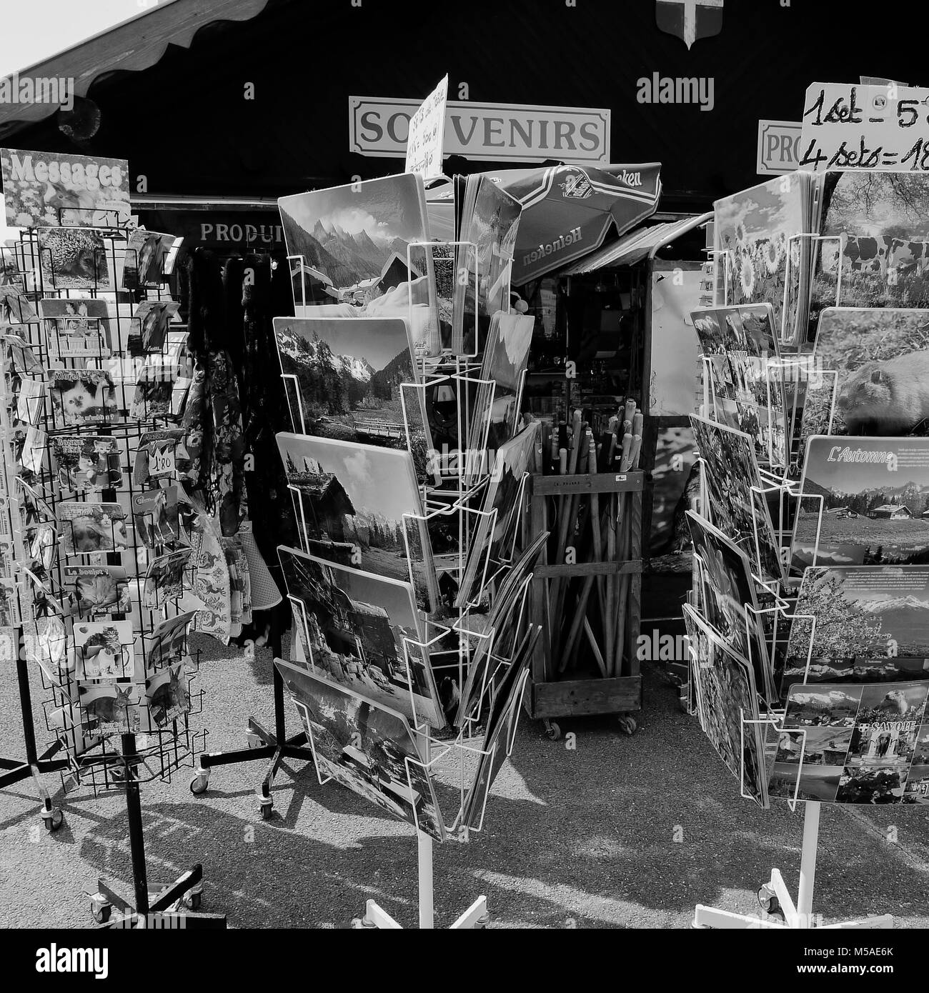 Souvenirs shop at Mount Revard, Savoy, France - Stock Image