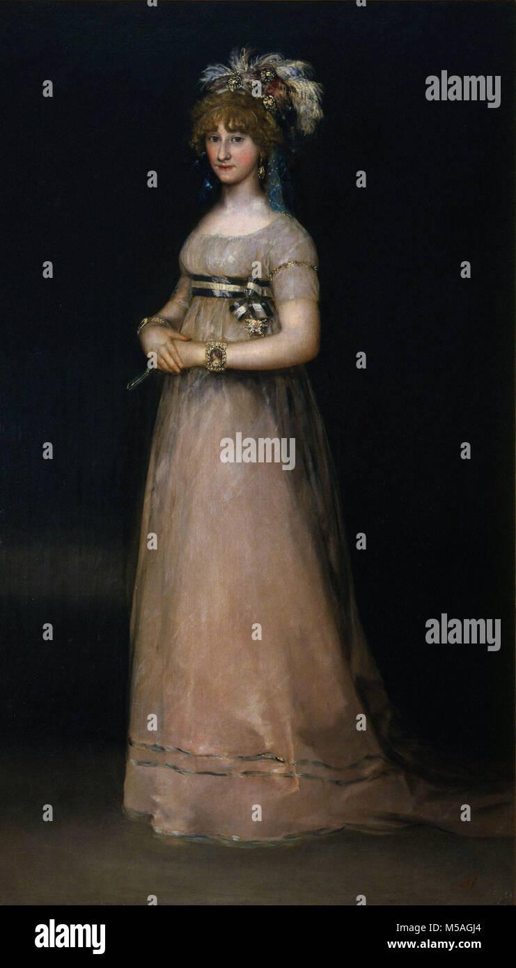 Francisco de Goya - Ritratto della contessa di Chincon - Stock Image