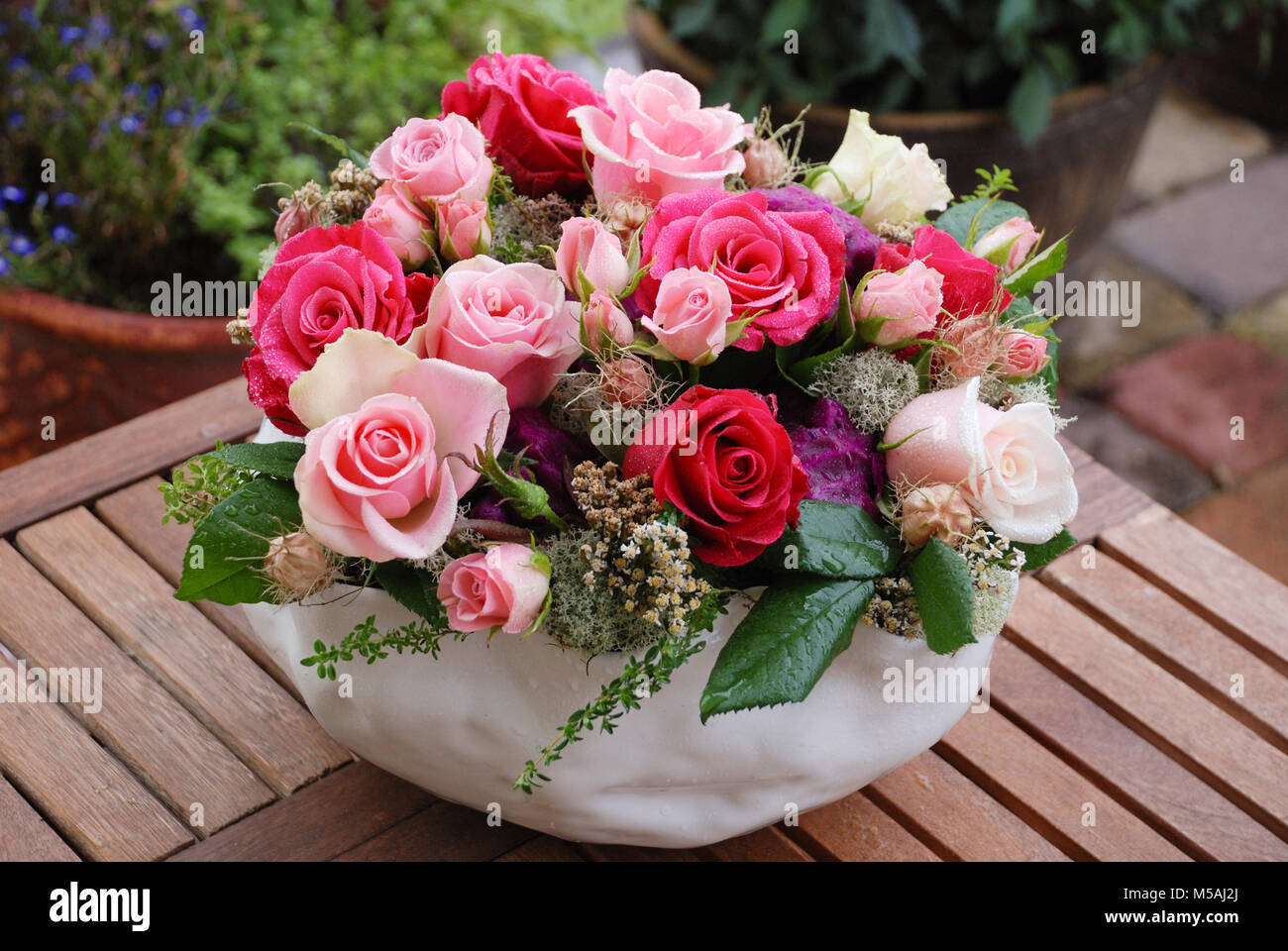 Luxury bouquet made of red white pink roses in flower shop stock luxury bouquet made of red white pink roses in flower shop birthday mothers valentines womens wedding day concept izmirmasajfo Choice Image