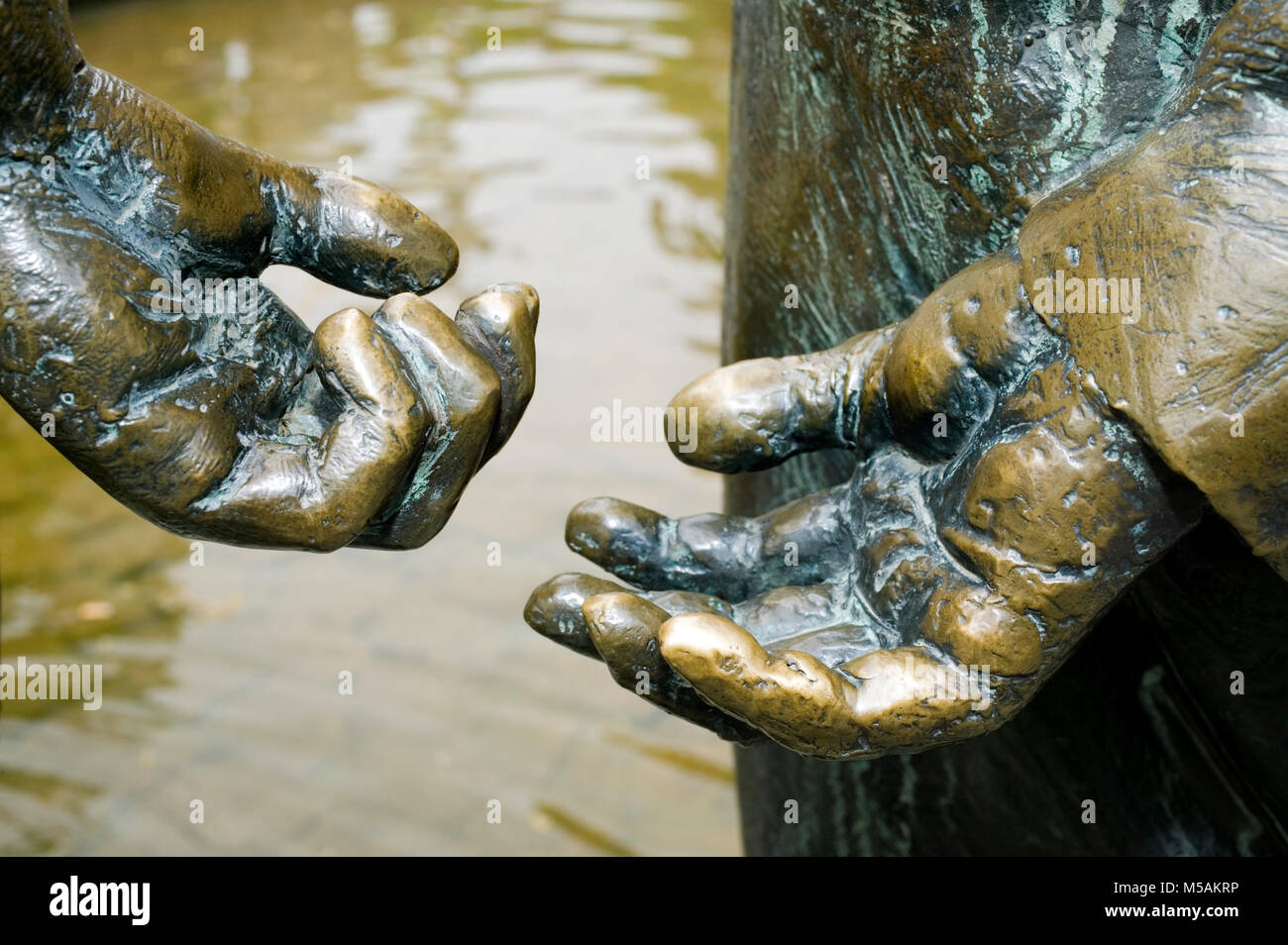 The Geldbrunnen fountain, Aachen or Aix-la-Chapelle, North Rhine-Westphalia, Germany - Stock Image