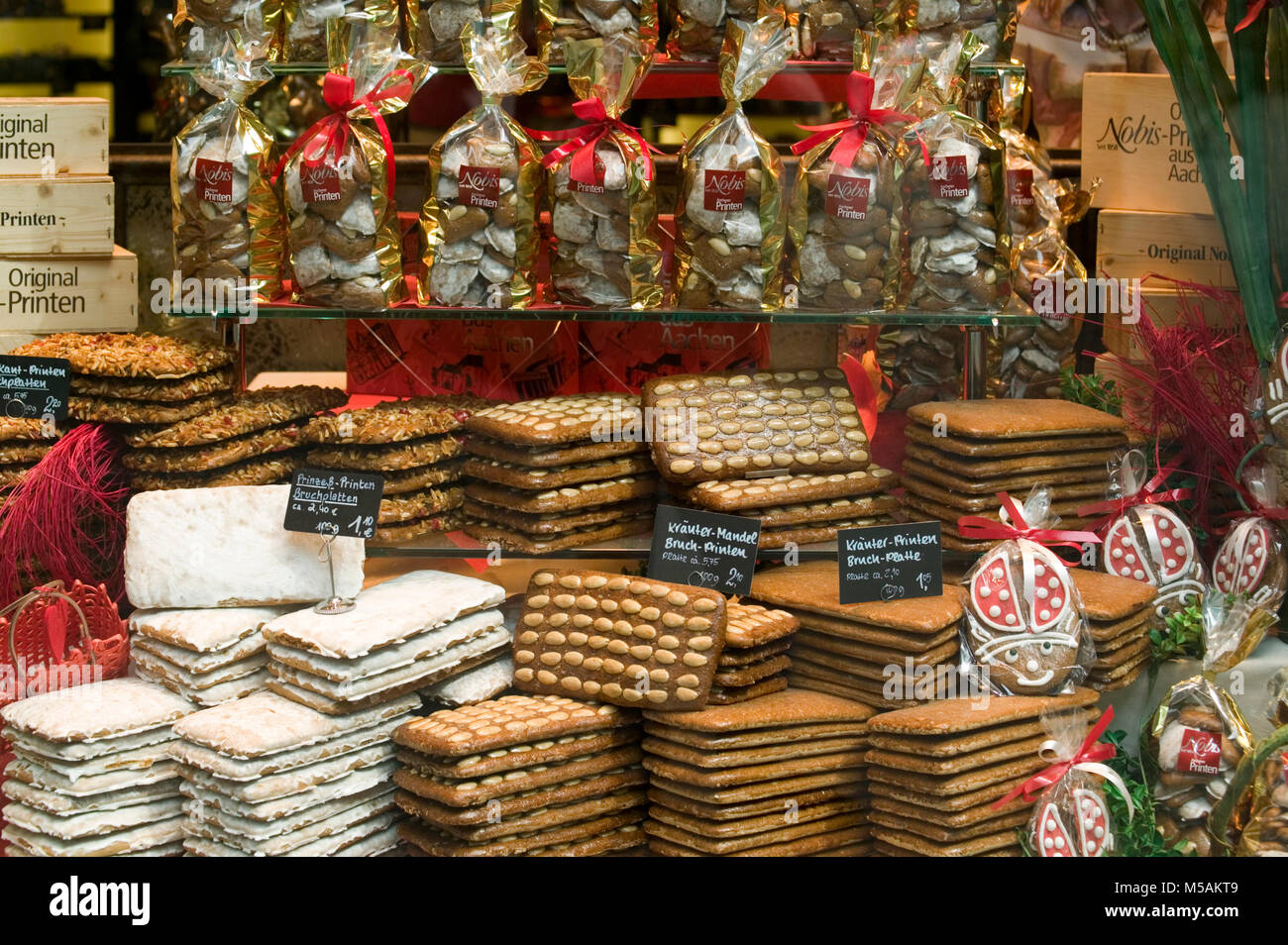Aachener Printen gingerbread speciality, Aachen, Aix-la-Chapelle, North Rhine-Westphalia, Germany Stock Photo