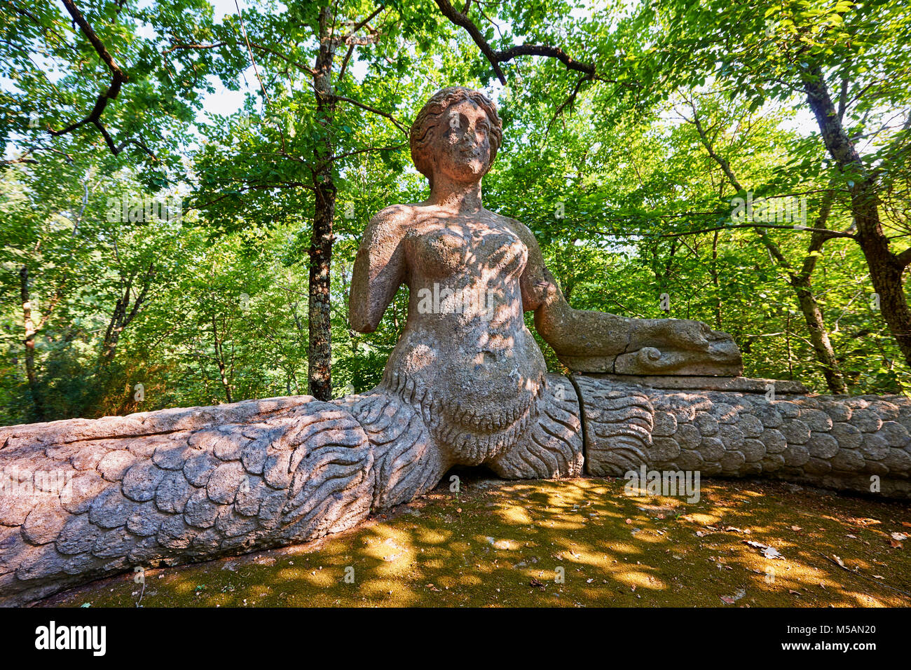 statue of Echidina, mother of the many enemies of Hercules, vainly in love with Glauco, the sea God, commissioned - Stock Image
