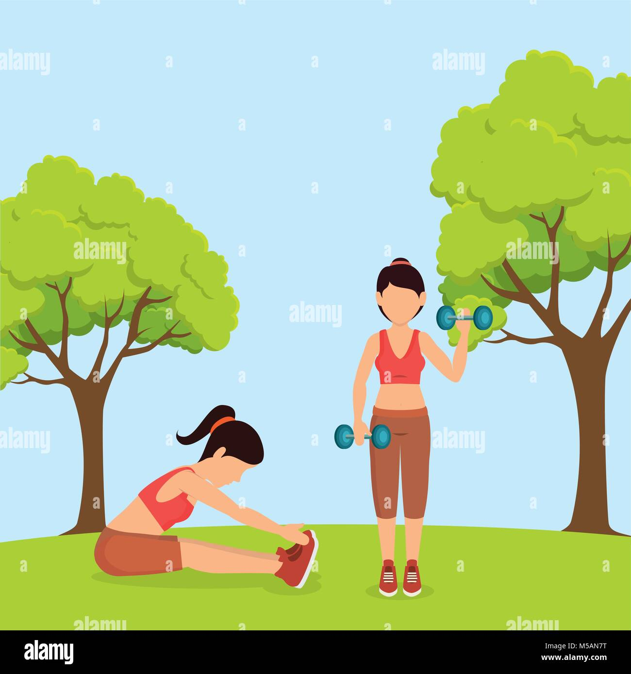 athlete female working out character - Stock Vector