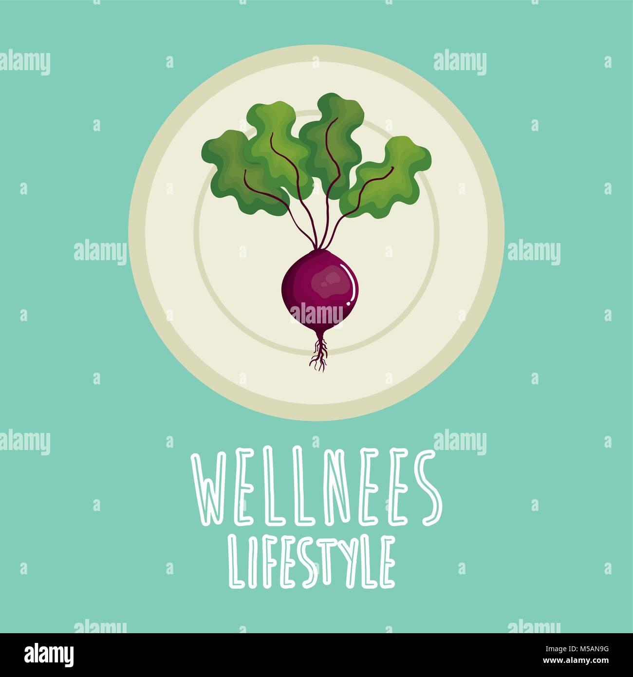garlic vegetable wellness lifestyle - Stock Vector
