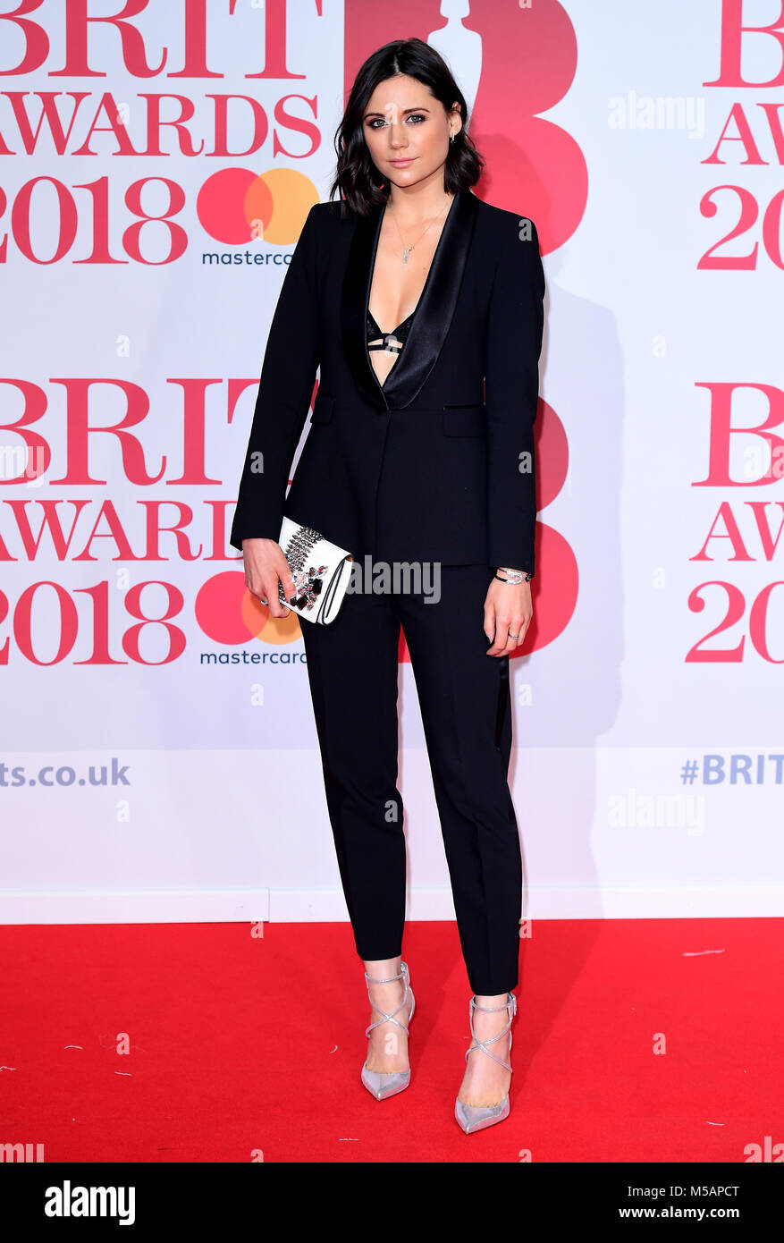 Lilah Parsons attending the Brit Awards at the O2 Arena, London. - Stock Image