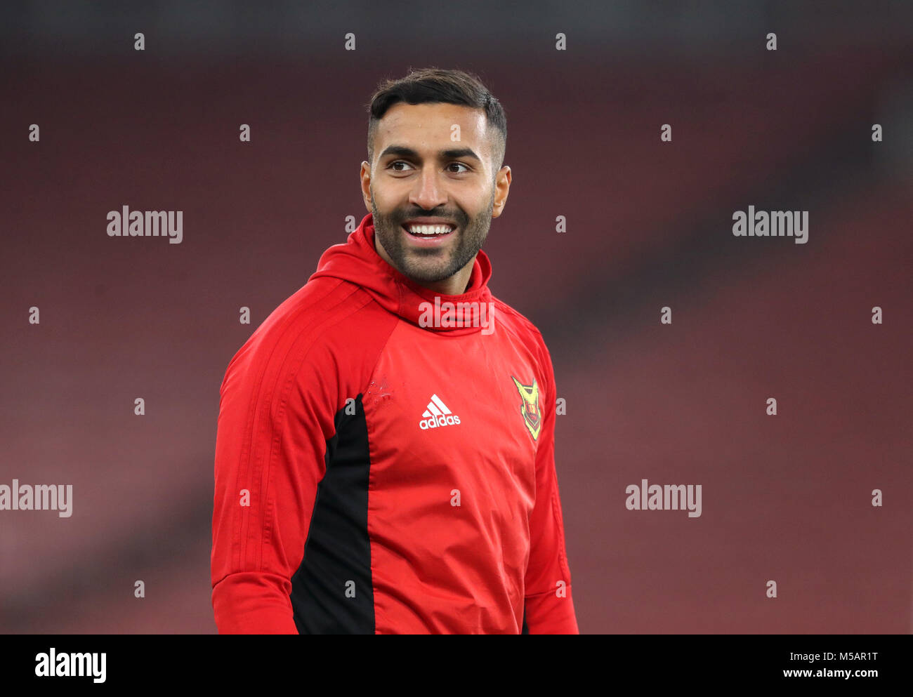 Ostersunds FK's Saman Ghoddos during the training session at the Emirates Stadium, London. Stock Photo