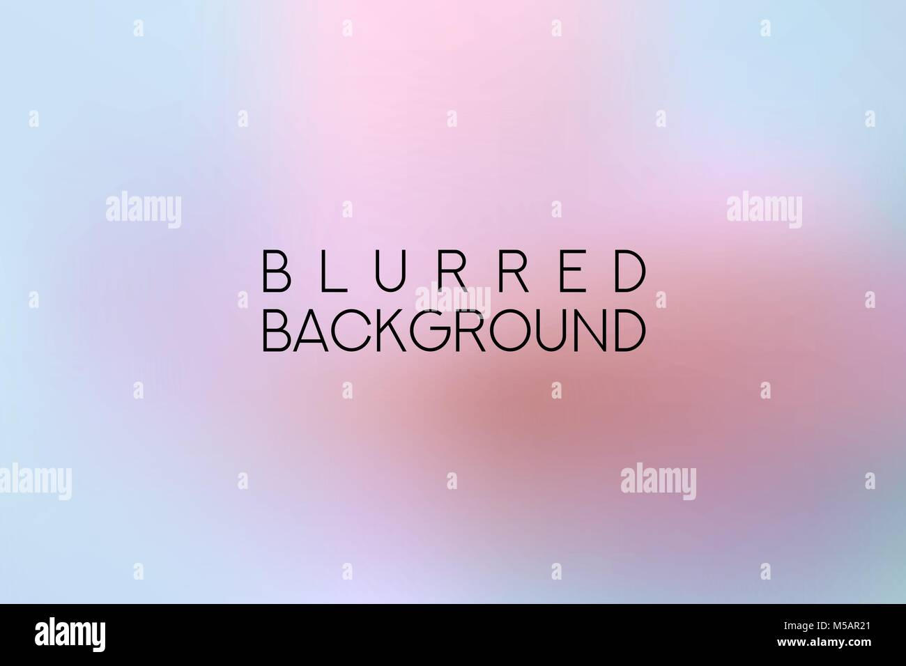 horizontal wide multicolored blurred background - Stock Image