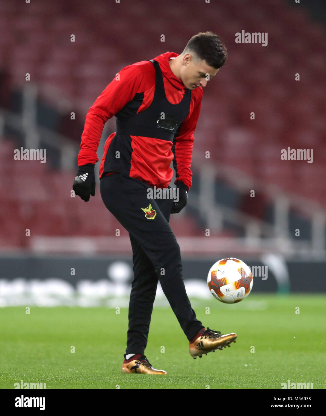 Ostersunds FK's Jamie Hopcutt during the training session at the Emirates Stadium, London. Stock Photo