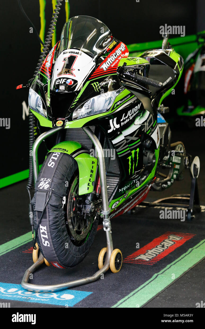 Motorbike of Jonathan Rea (GBR) of Kawasaki Racing Team, 2017,  EuroSpeedway Lausitzring - Stock Image