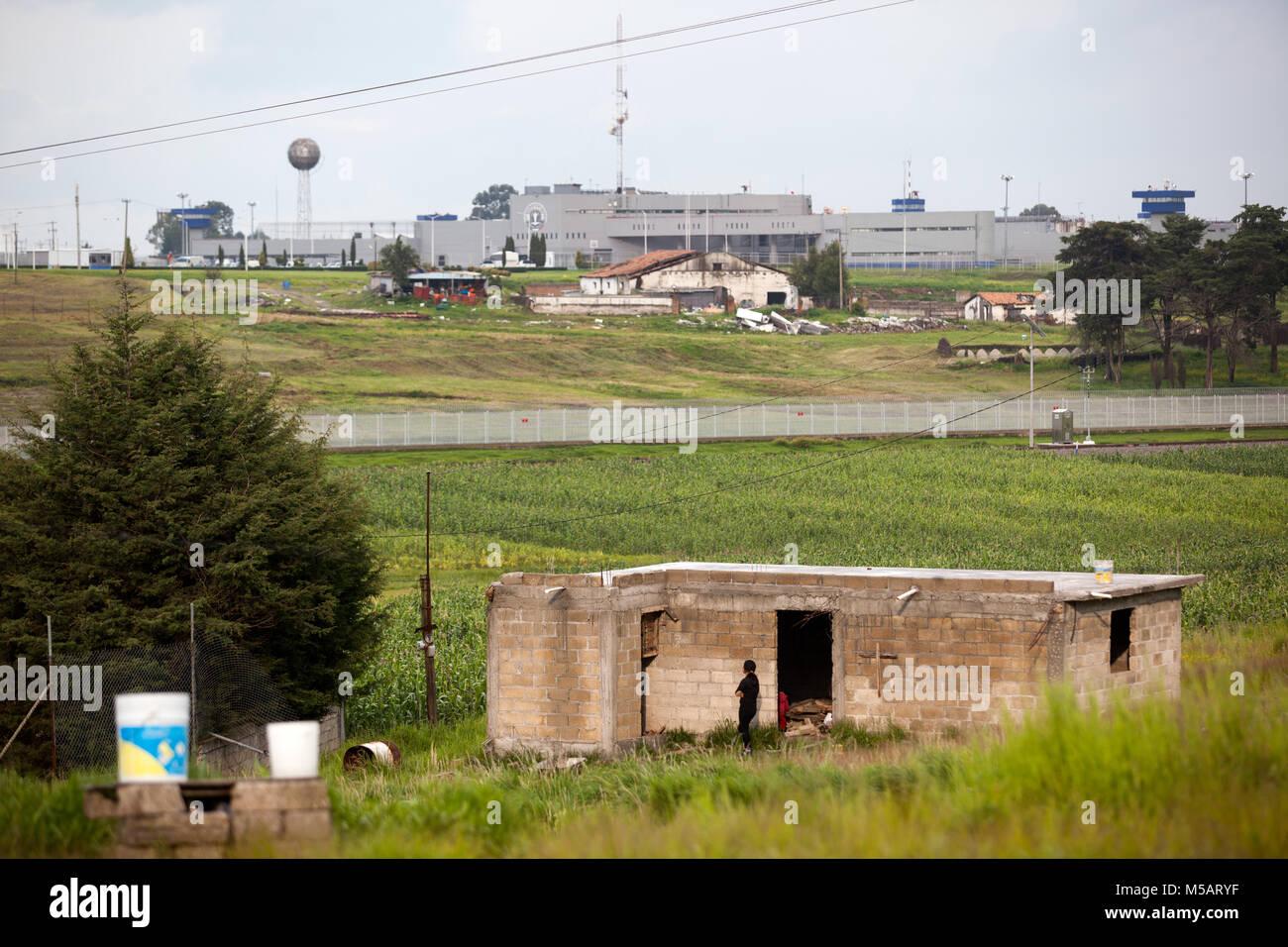 The Altiplano prison from which Joaquin 'El Chapo' Guzman escaped near Toluca, Mexico on Wednesday, July - Stock Image