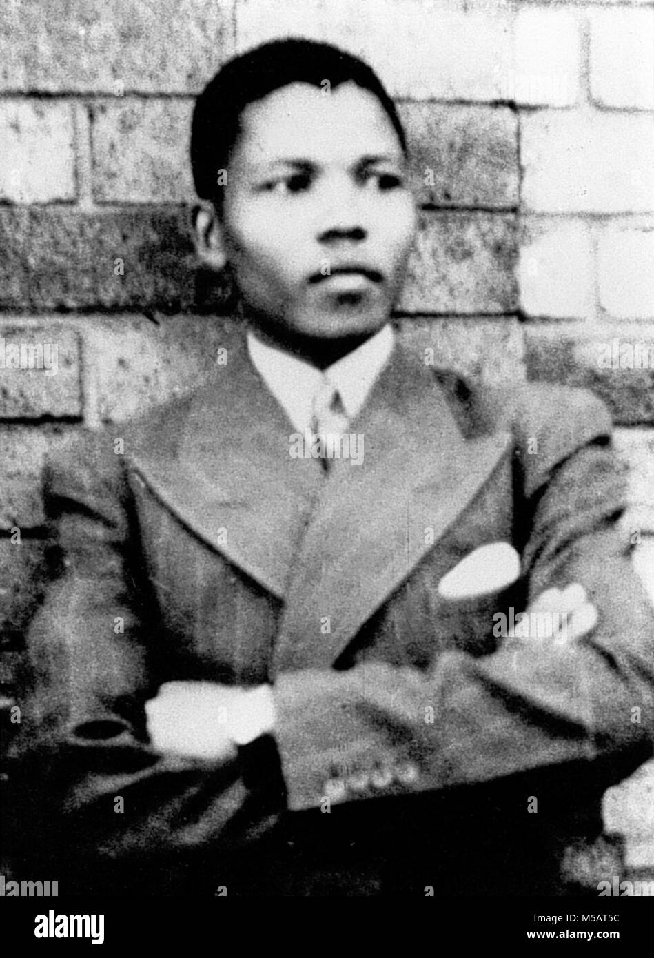 Mandela, taken in Umtata in 1937 Nelson Rolihlahla Mandela (1918 - 2013) South African anti-apartheid revolutionary - Stock Image