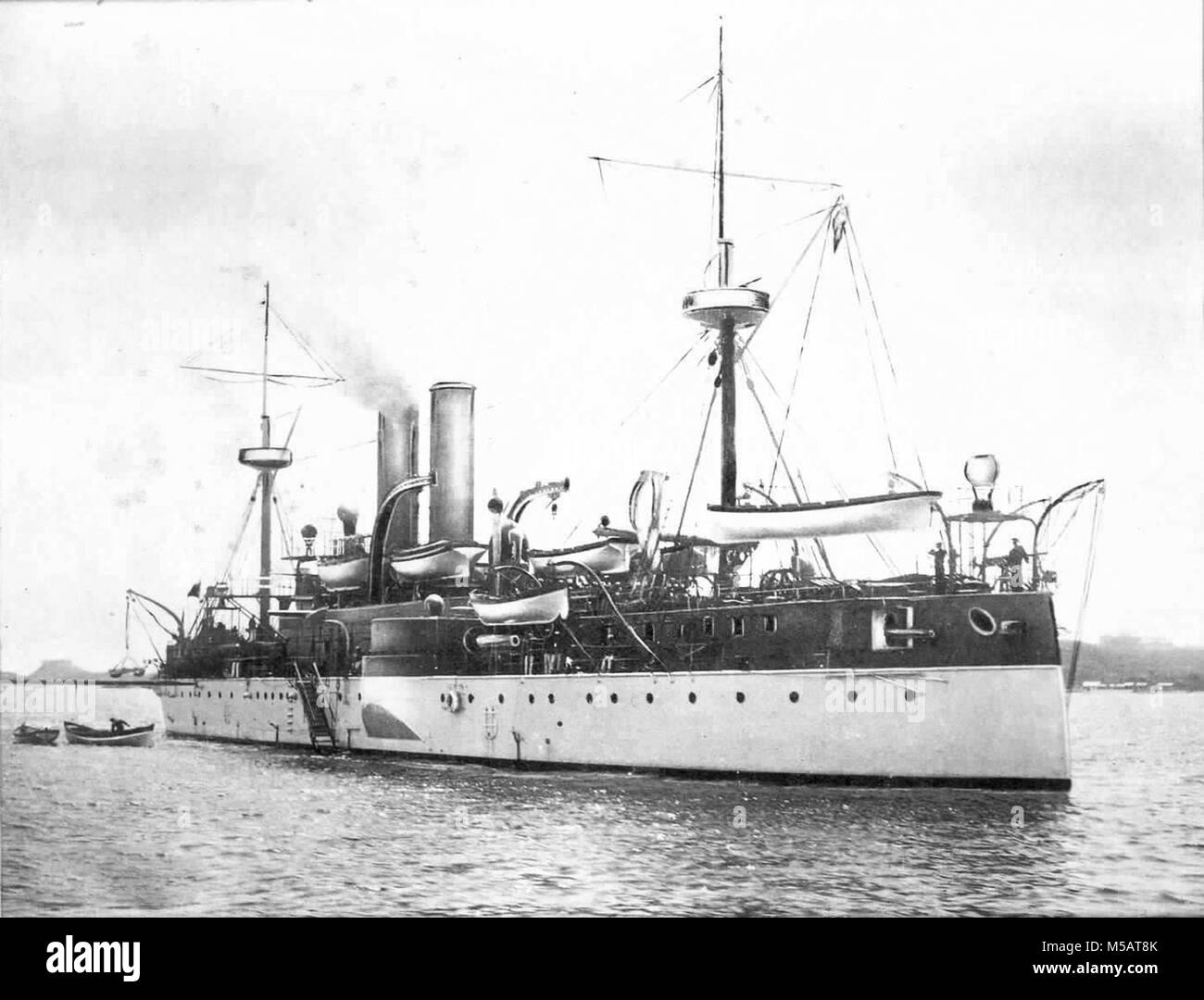 USS Maine (ACR-1) American naval ship that sank in Havana Harbor Stock Photo