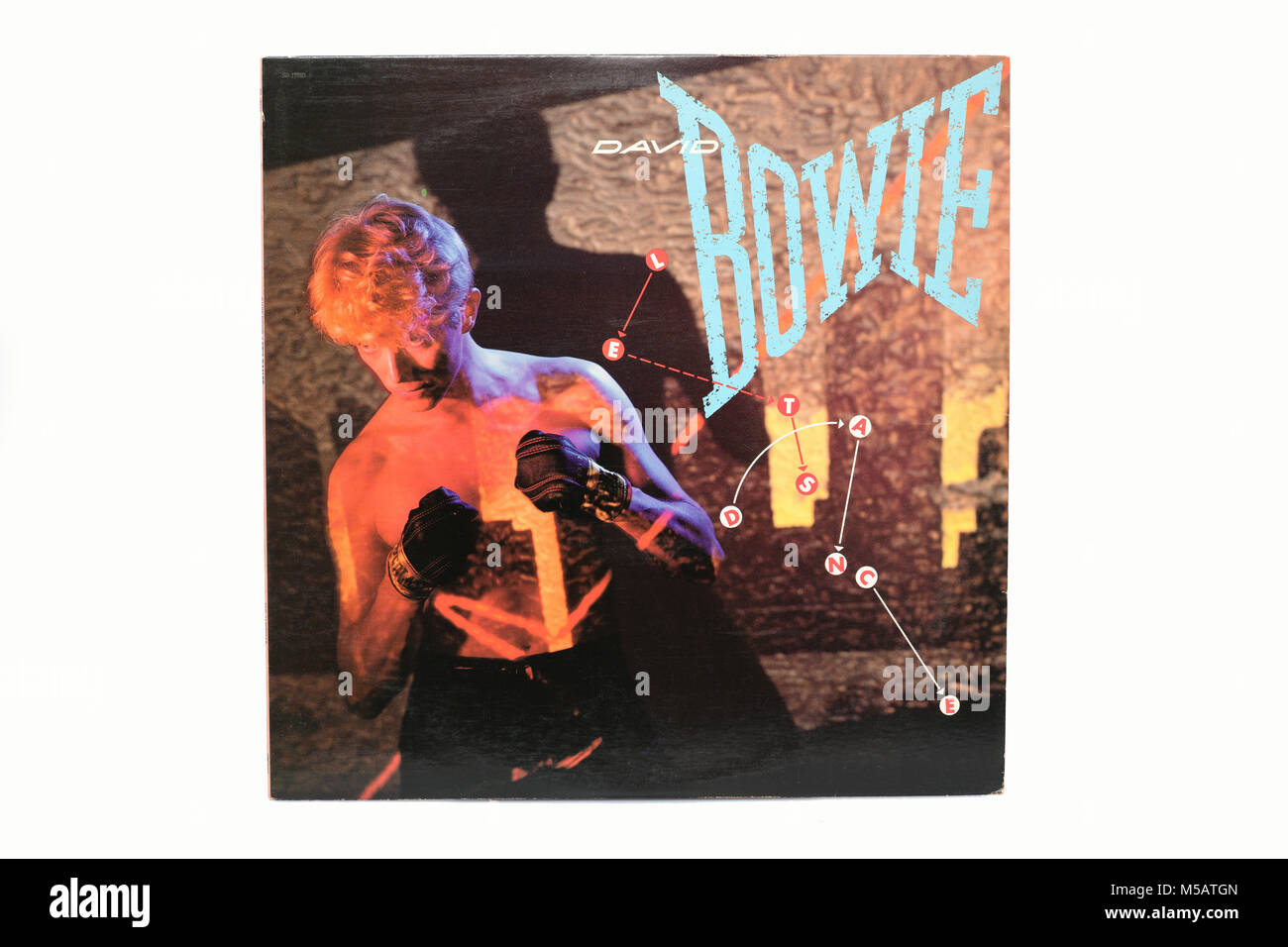 David Bowie Lets Dance LP music vinyl album cover art Stock