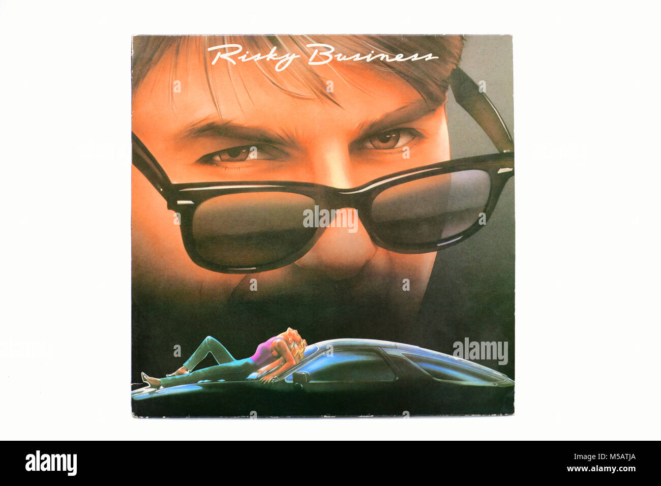 Movie Soundtrack to RISKY BUSINESS with Tom Cruise LP music vinyl album cover art - Stock Image