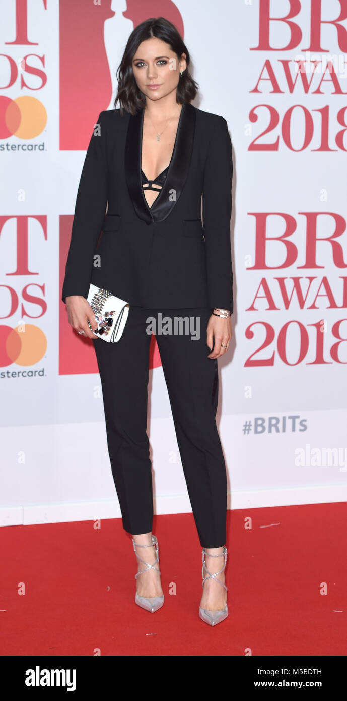 Photo Must Be Credited ©Alpha Press 079965 21/02/2018 Lilah Parsons The Brit Awards 2018 at The O2 Arena London - Stock Image