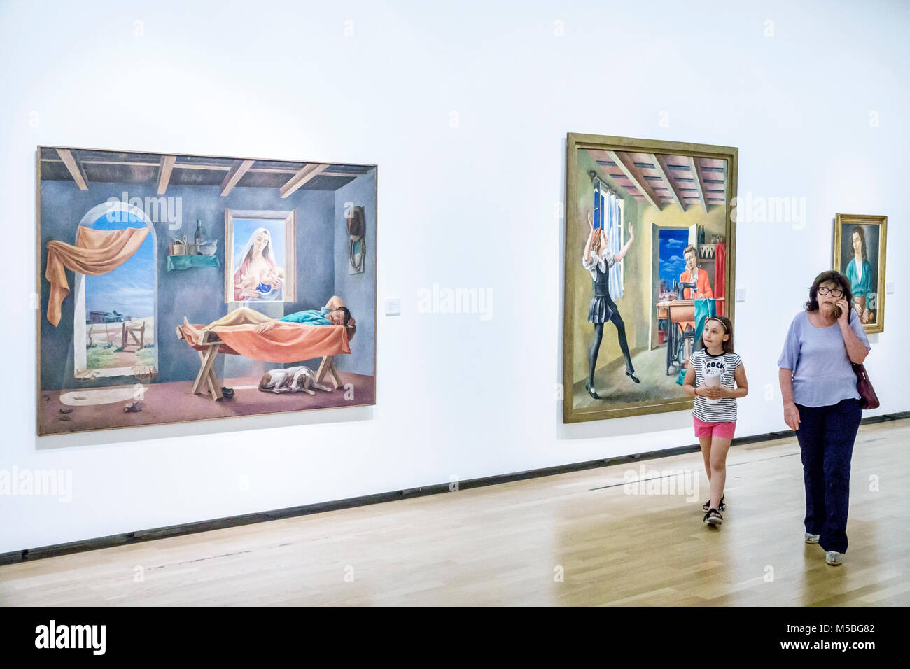 Buenos Aires Argentina Recoleta Museo Nacional de Bellas Artes National Museum of Fine Arts interior gallery paintings - Stock Image