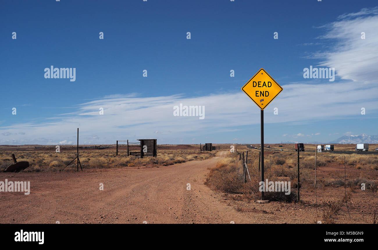 Abandoned towns along Arizona Route 40 & 66 - Stock Image