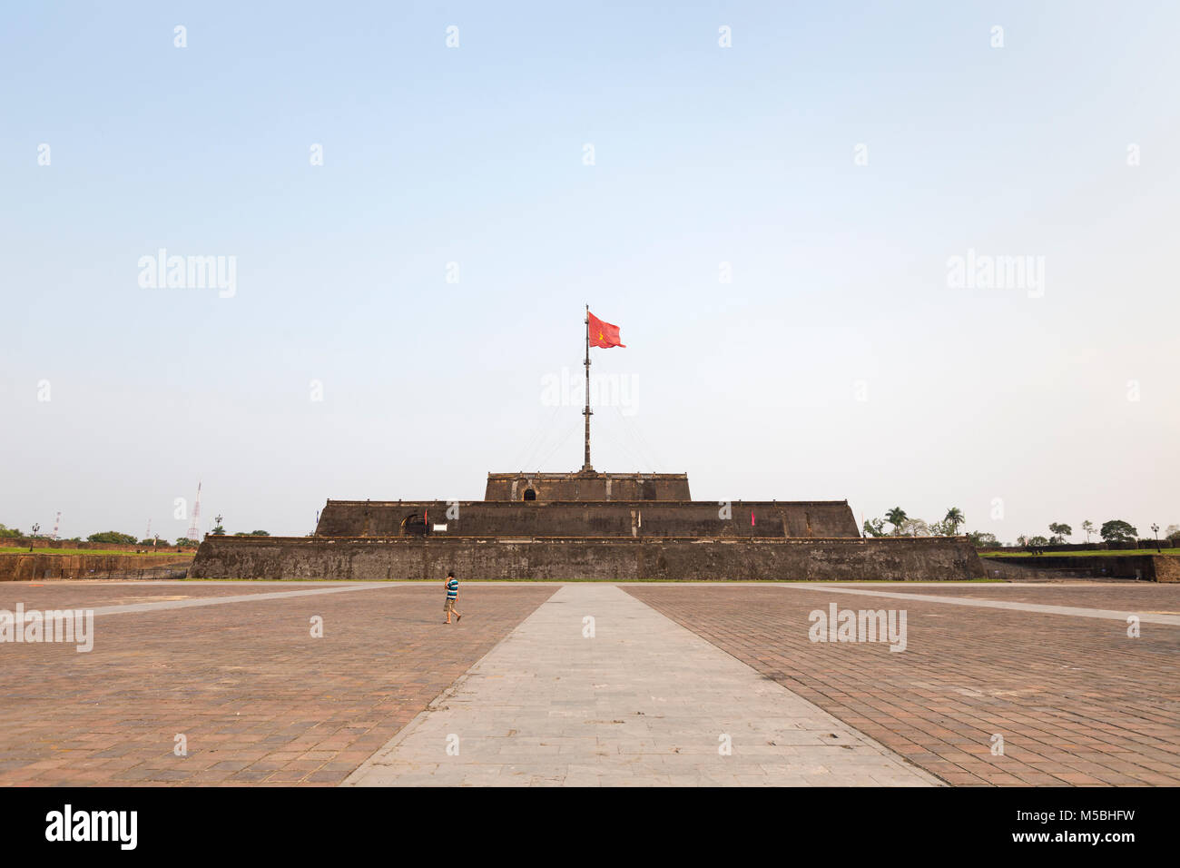 The flag tower, Cot Co, in the citadel of Hue, Vietnam - Stock Image