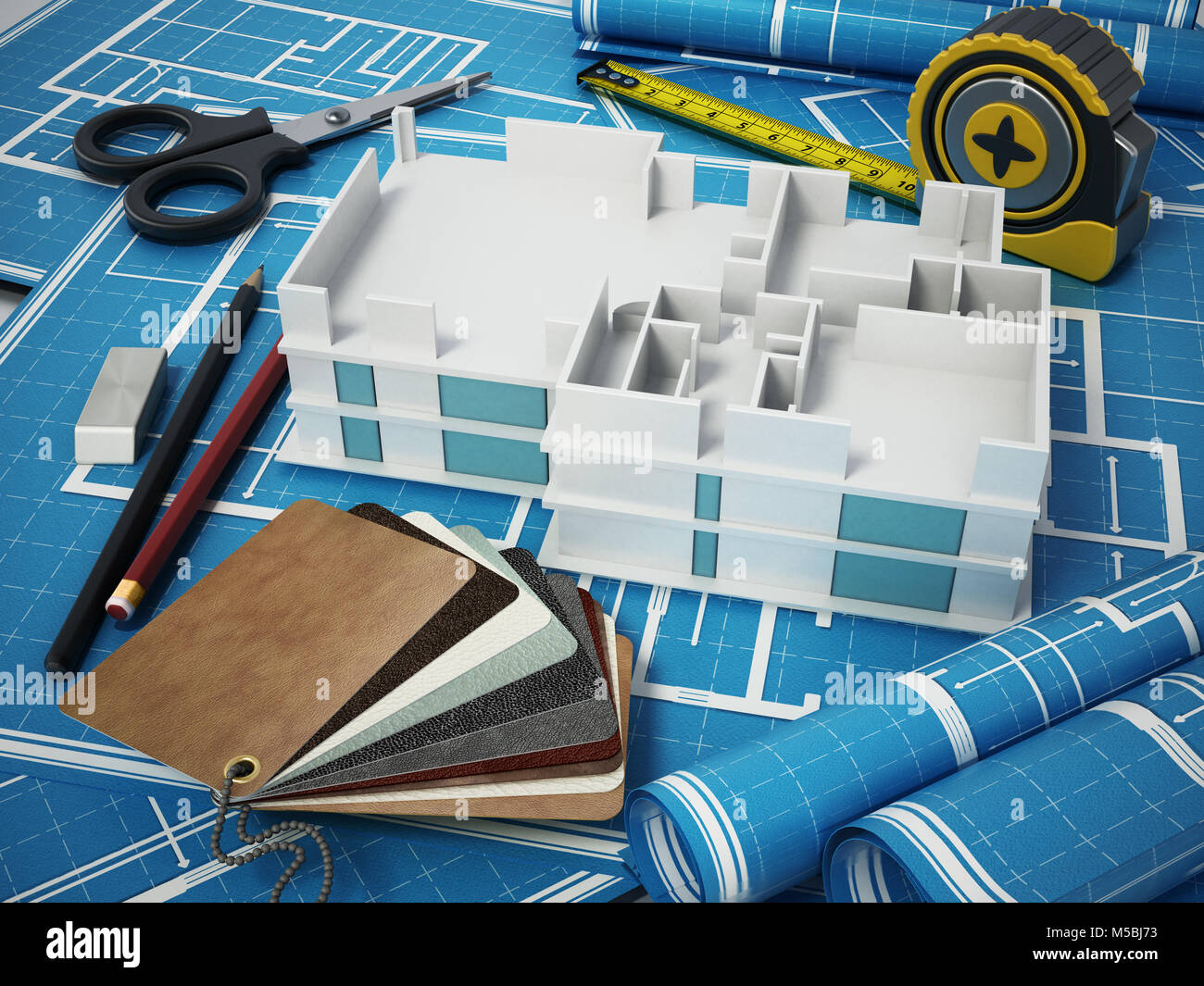 Draft For Interior Decoration Stock Photos & Draft For ...
