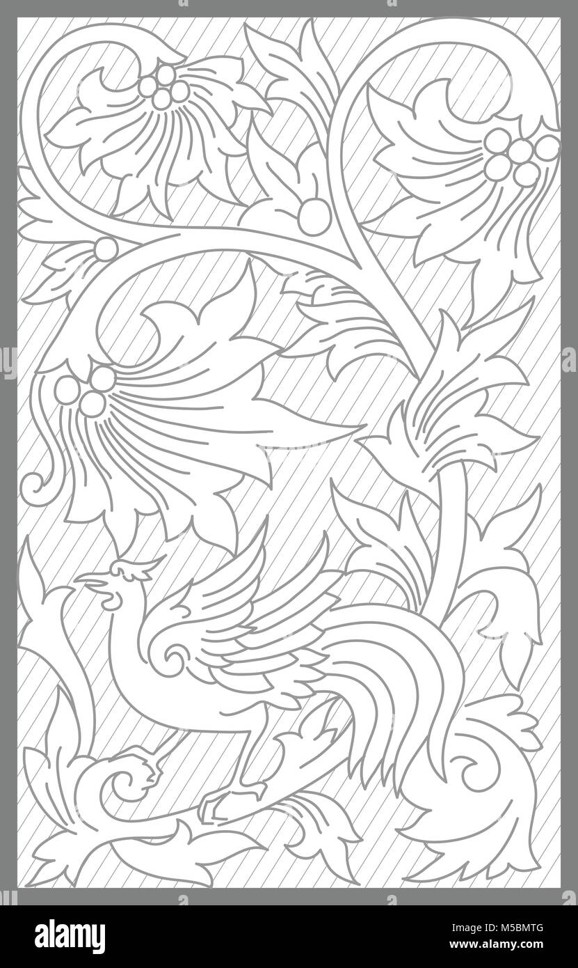jepara floral decoration motif - Stock Vector