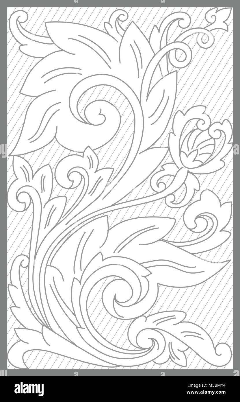 madura floral decoration motif - Stock Vector