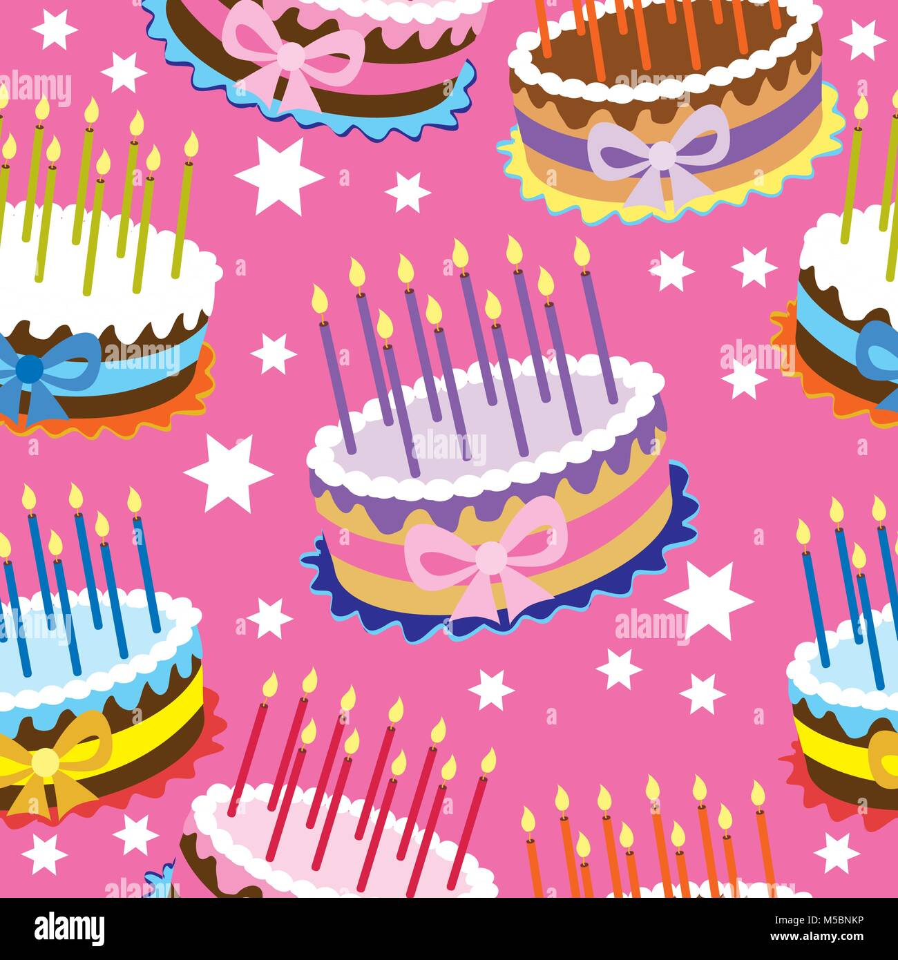 Vintage Birthday Cake Stock Vector Images Alamy
