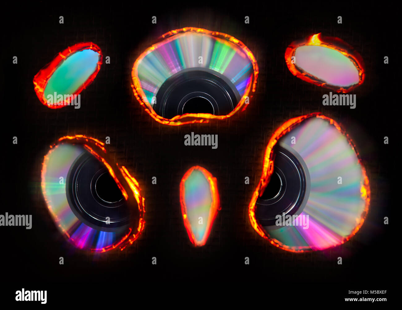 compact disc - Stock Image
