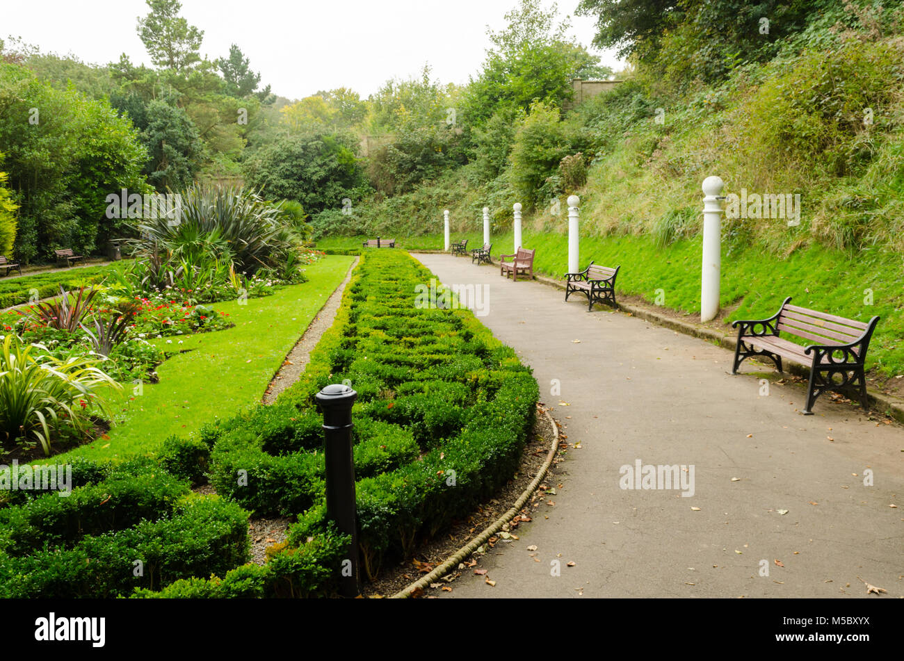 Saltburn Valley Gardens at Saltburn-by-the-Sea - Stock Image