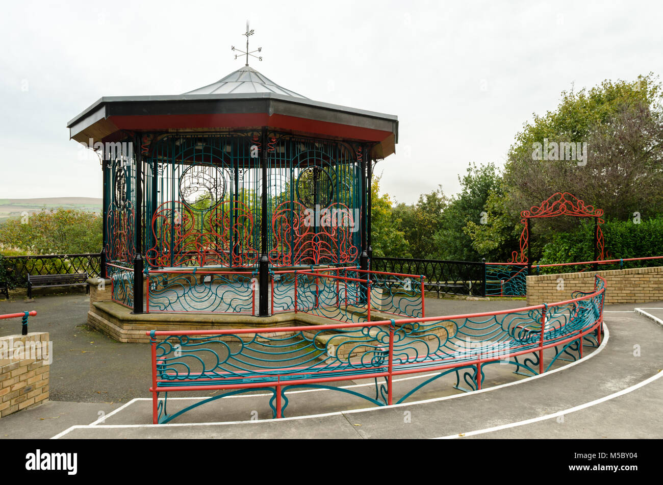 The Bandstand at Glenside, Saltburn-by-the-Sea Stock Photo