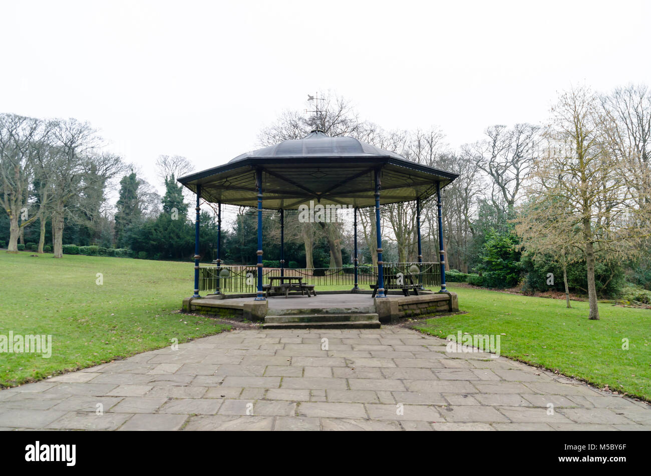 A Bandstand in Saltwell Park, Gateshead, in Winter - Stock Image