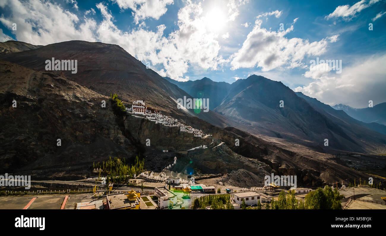 Diskit Monastery, Nubra Valley, Leh Ladakh, Jammu Kashmir, India - Stock Image