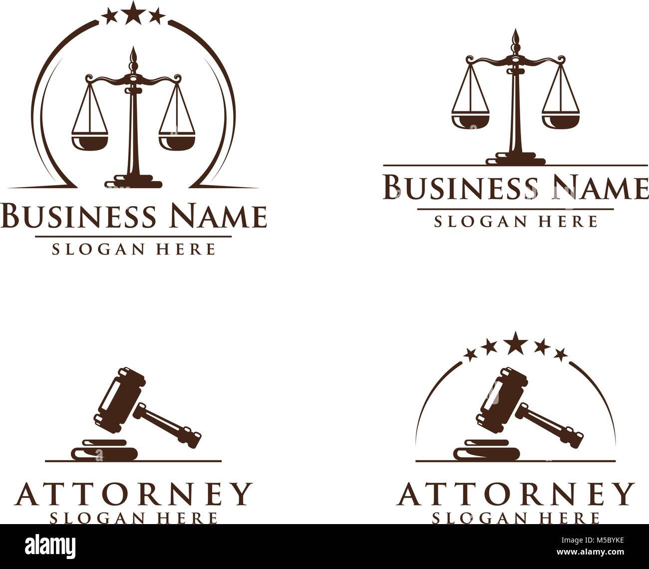 Law and Attorney logo, elegant Law and Attorney Firm vector