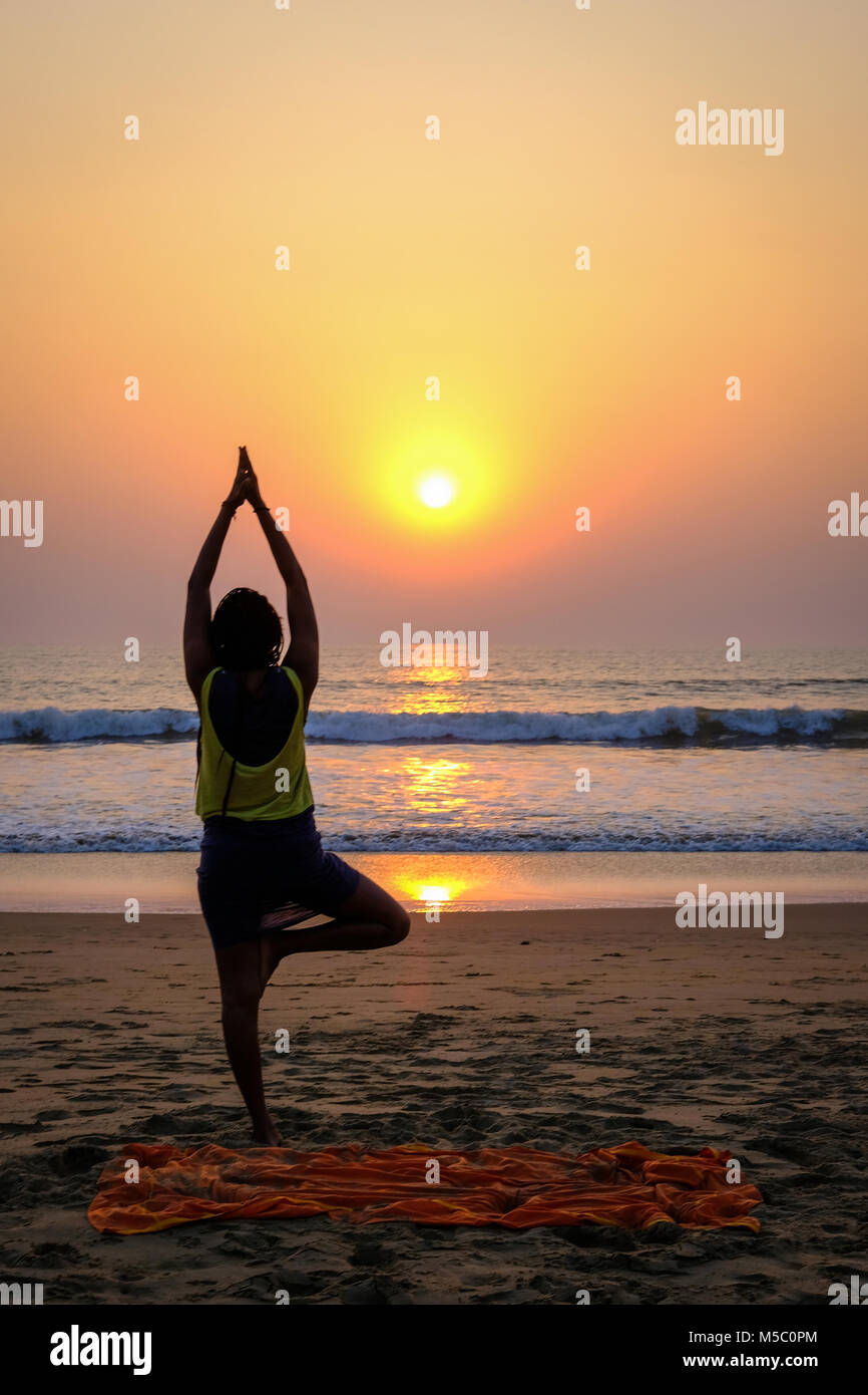 Indian Woman Doing Yoga High Resolution Stock Photography And Images Alamy