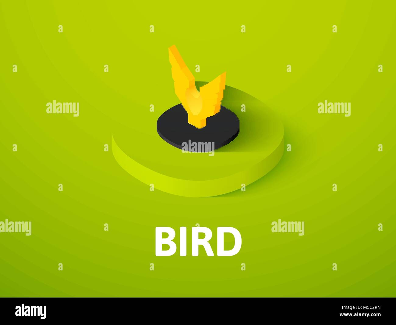 Bird isometric icon, isolated on color background Stock Vector