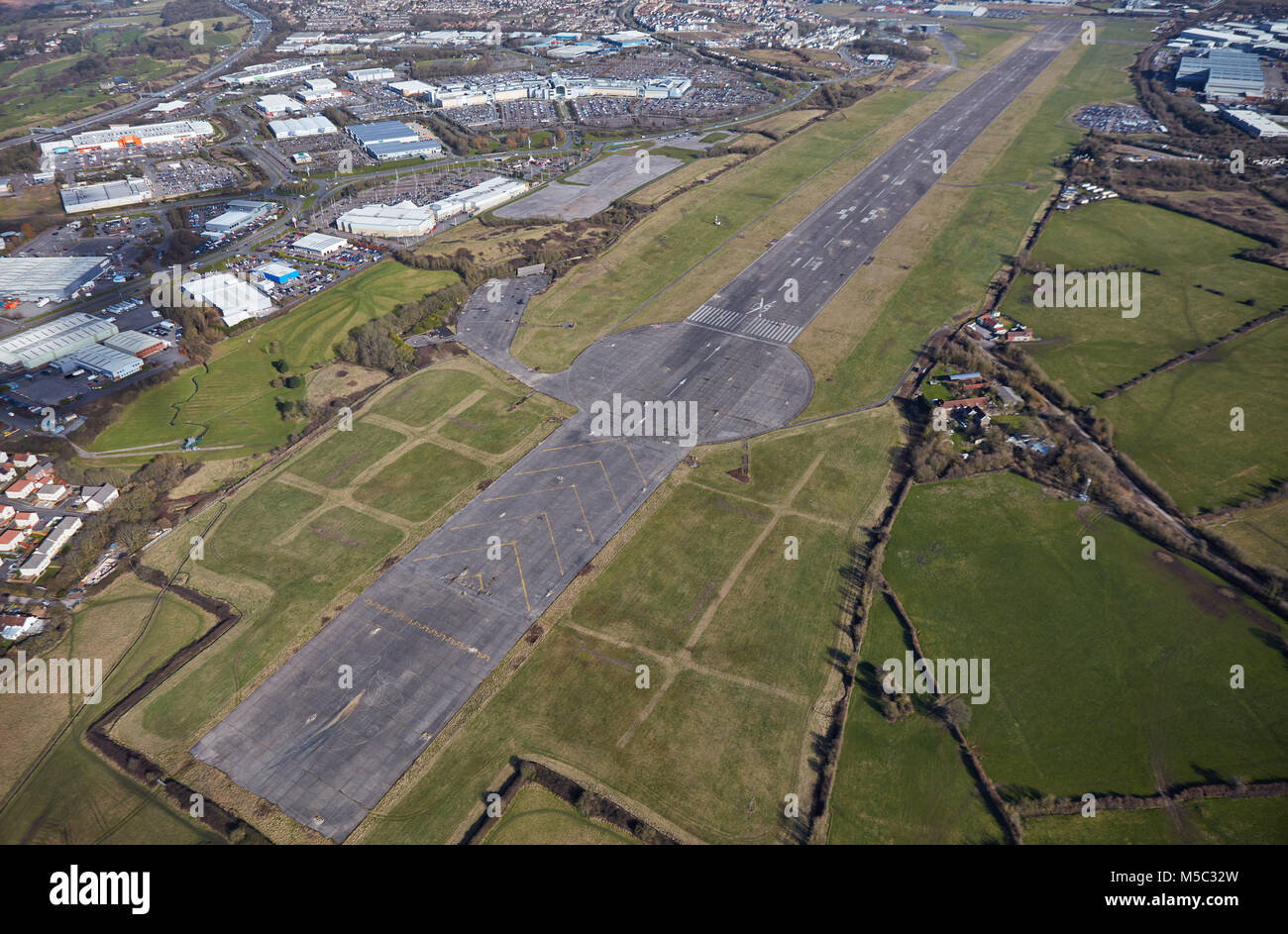 An aerial view of the former Filton Airfield, Bristol - Stock Image