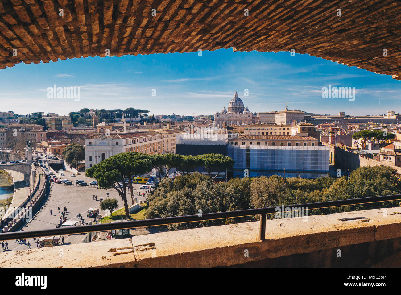 Rome skyline view  from the Castel Sant`Angelo, Italy - Stock Image
