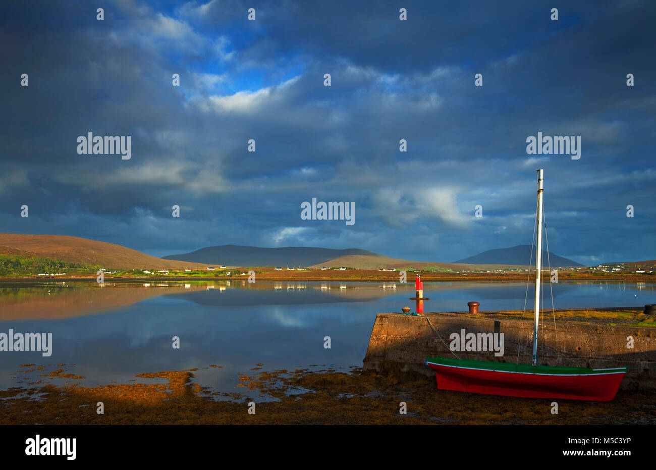Looking across Achill Sound to Achill Island, County Mayo, Ireland - Stock Image