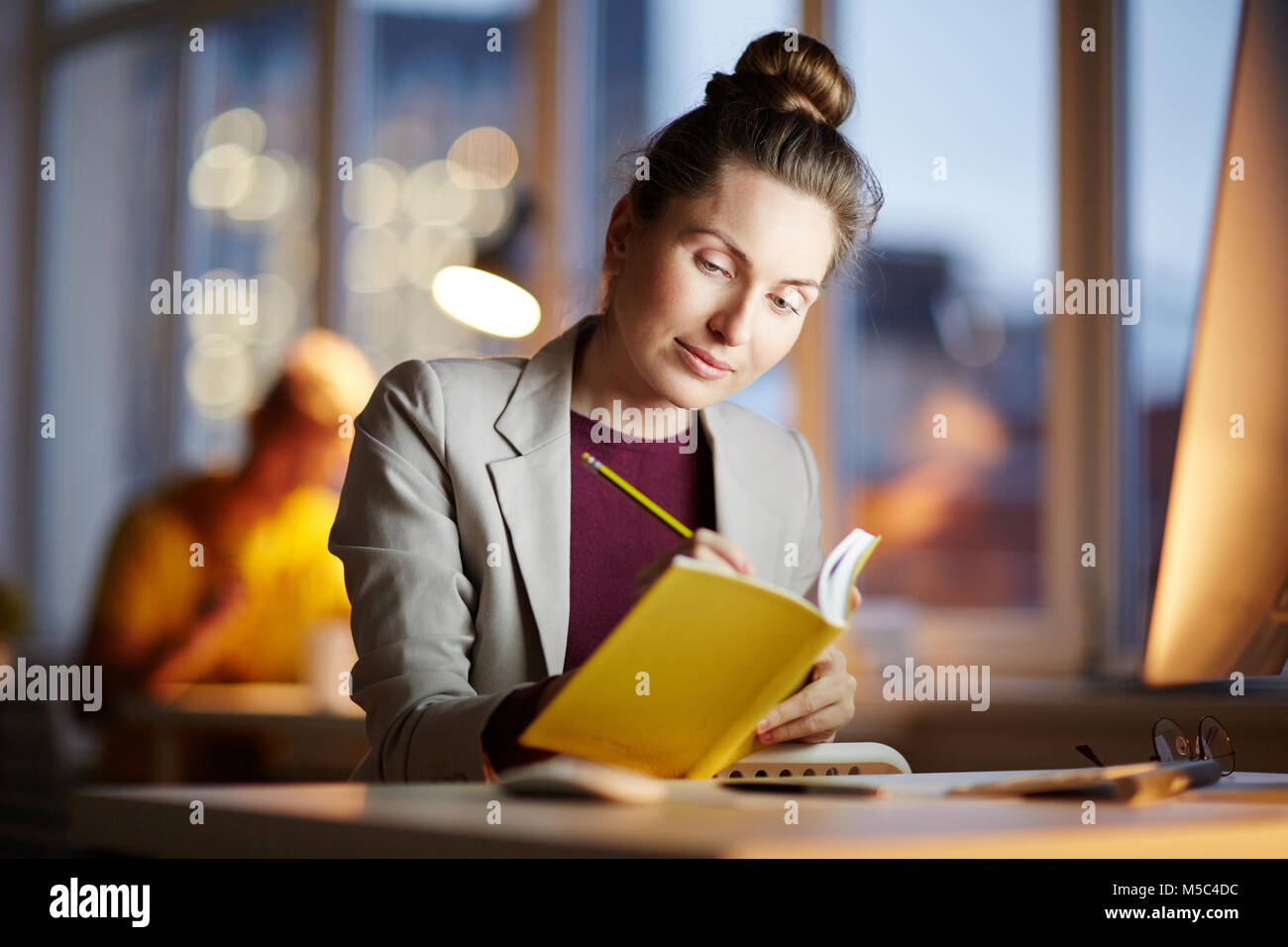 Working plan for tomorrow - Stock Image